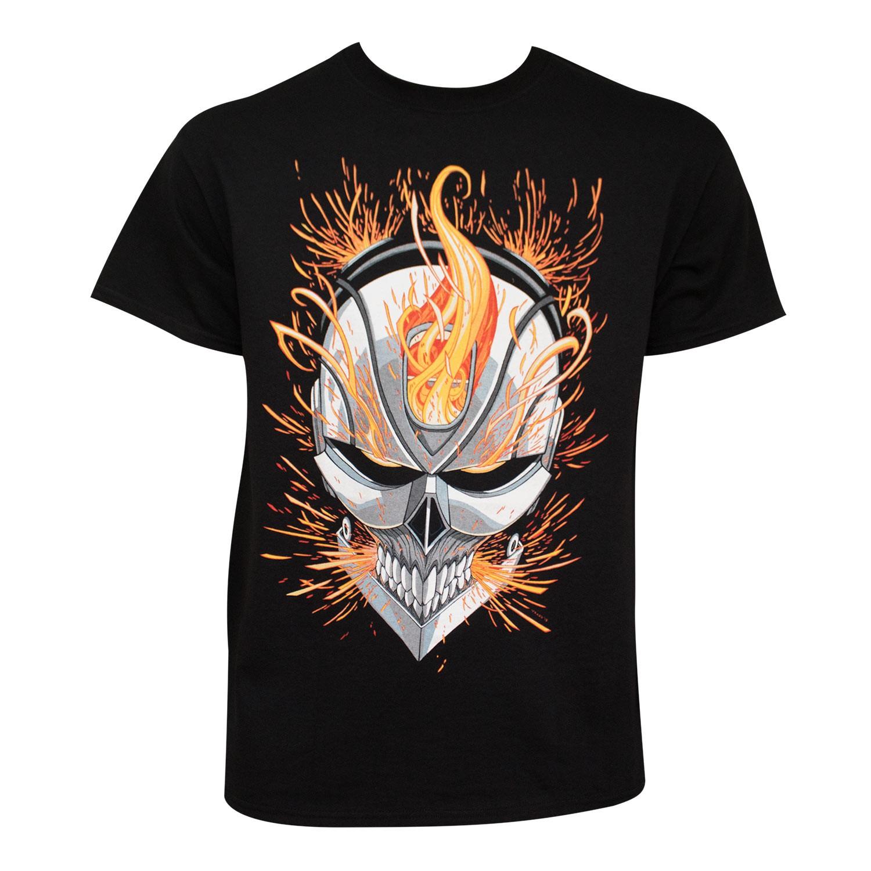 Ghost Rider Flaming Skull Tee Shirt