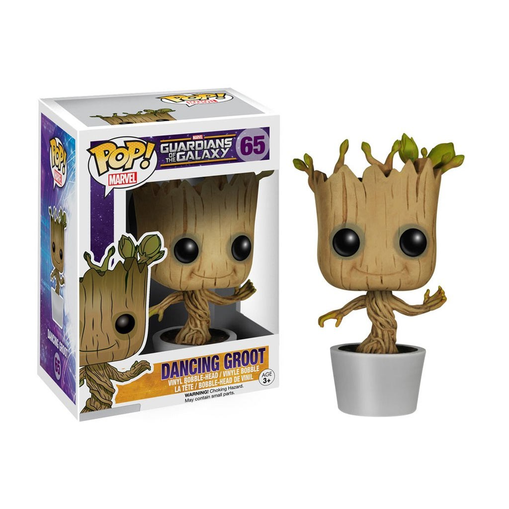 Funko Pop Guardians Of The Galaxy Dancing Groot Bobble Head