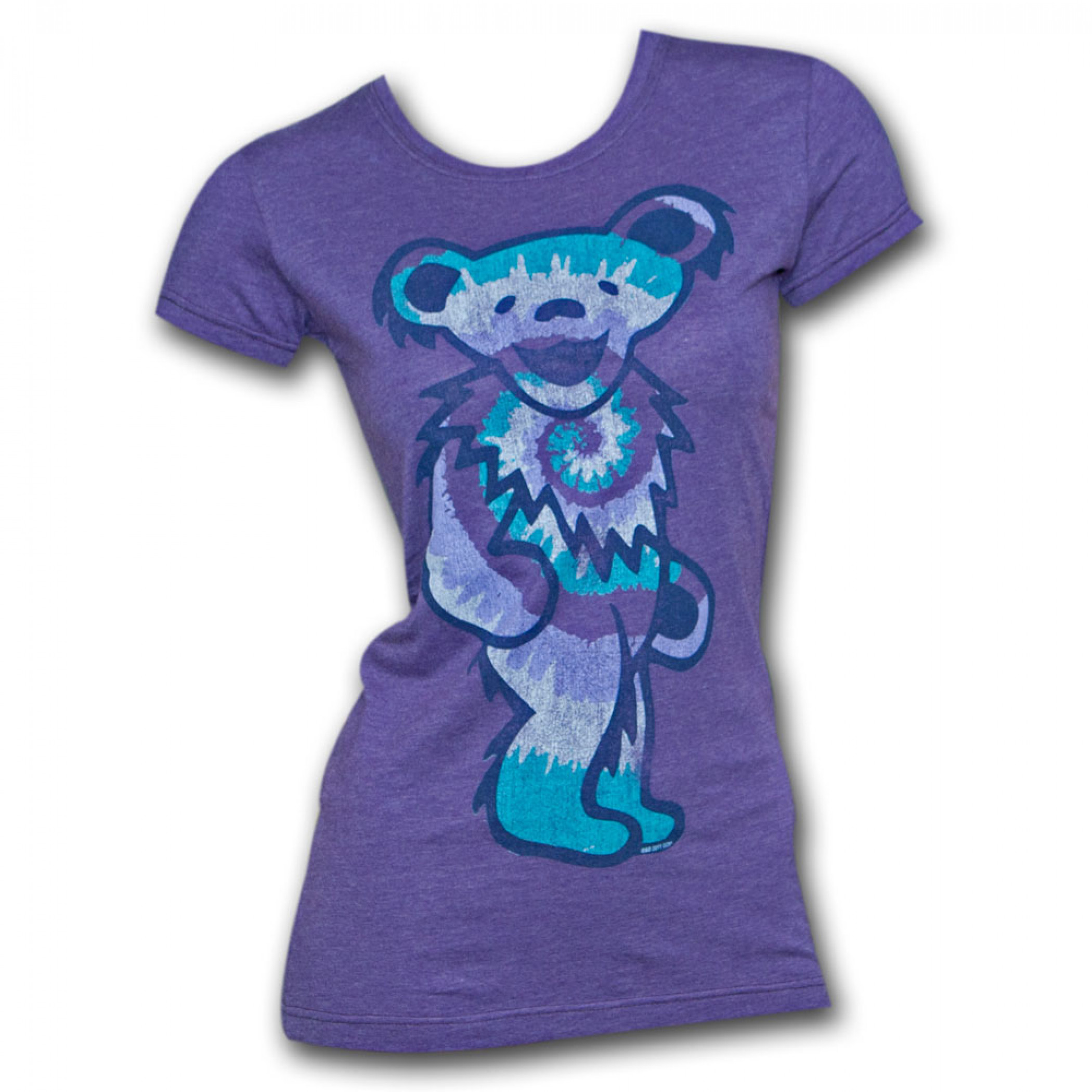 Grateful Dead Tie Dye Bear Purple Juniors Graphic TShirt