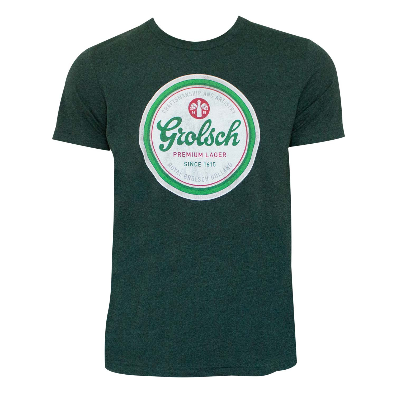 Grolsch Beer Cap Logo Green Tee Shirt