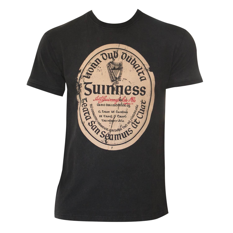 Guinness Distressed Gaelic Label Tee Shirt