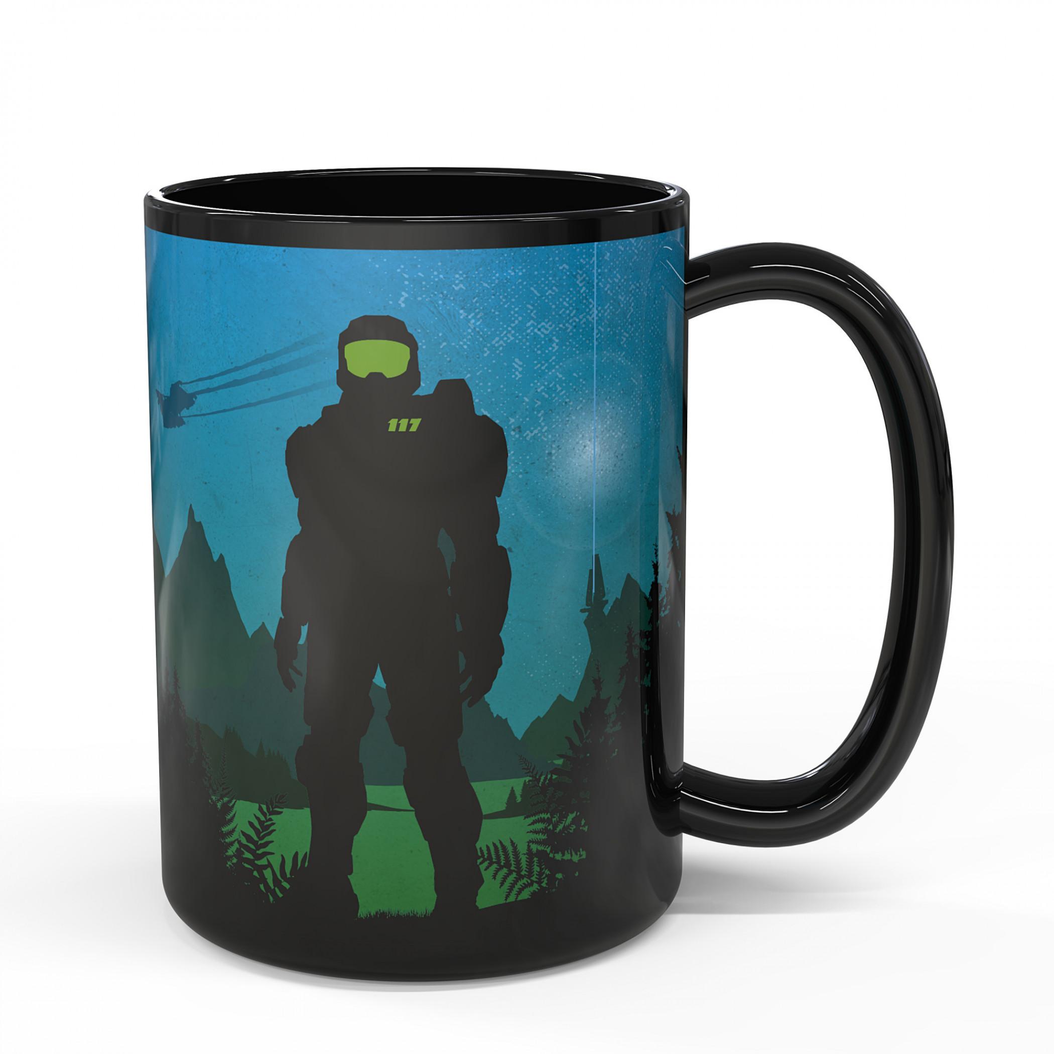 Halo Battle Scene Color Heat Change Ceramic Mug
