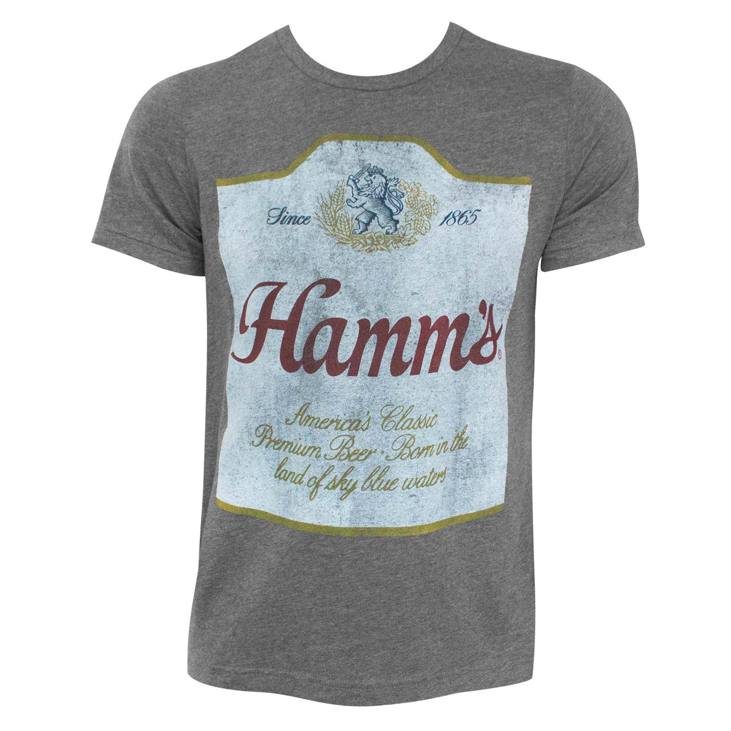 Hamm's Beer Label Hugger Heather Grey T-Shirt