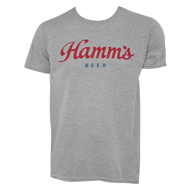 Hamm's Script Logo Grey Tee Shirt