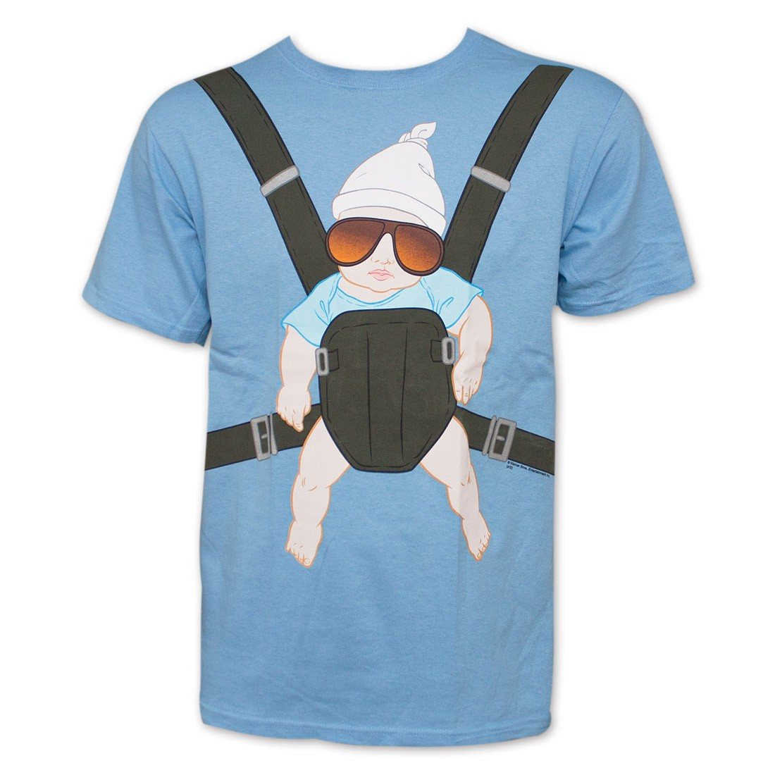 The Hangover Baby Carrier Men's Blue Graphic T-Shirt