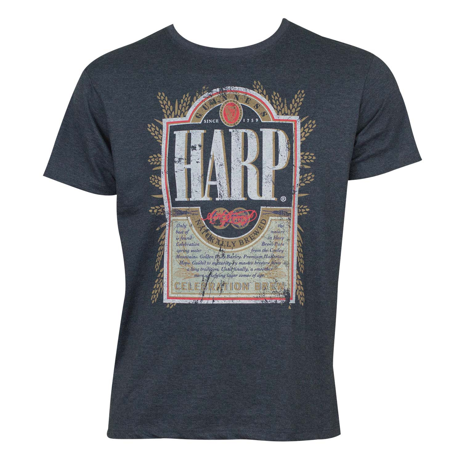 Harp Distressed Label Tee Shirt