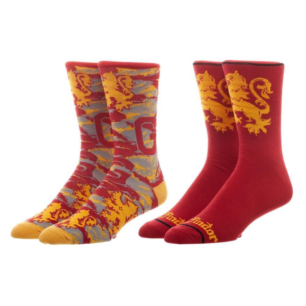 Harry Potter Gryffindor Men's Crew Sock Set Of 2 Pairs