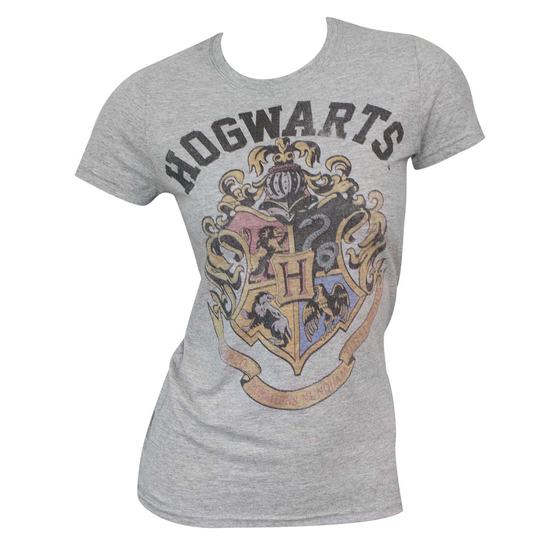 Women's Harry Potter Hogwarts Grey T-Shirt