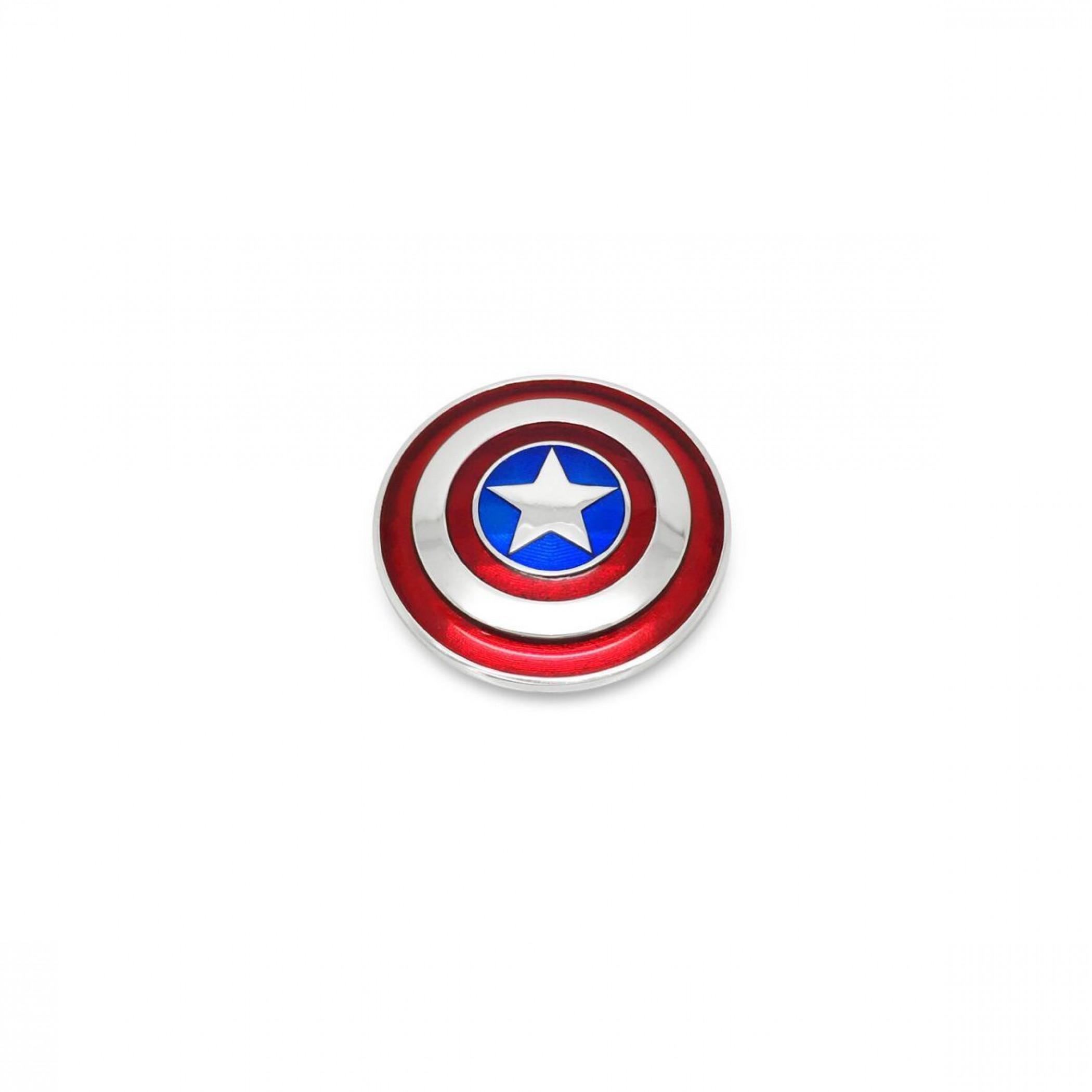 Marvel Captain America Small Shield Sterling Silver Pendant