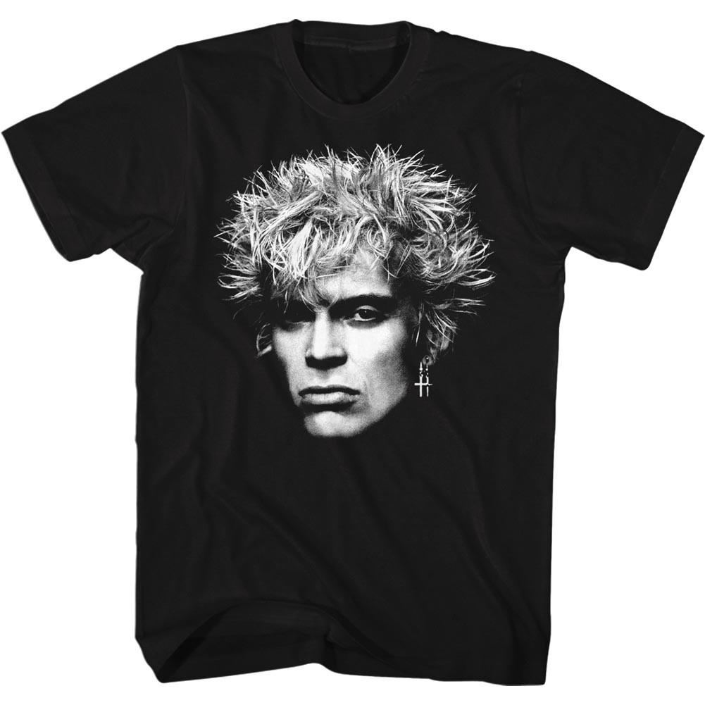 Billy Idol Bighead Mens Black T-Shirt