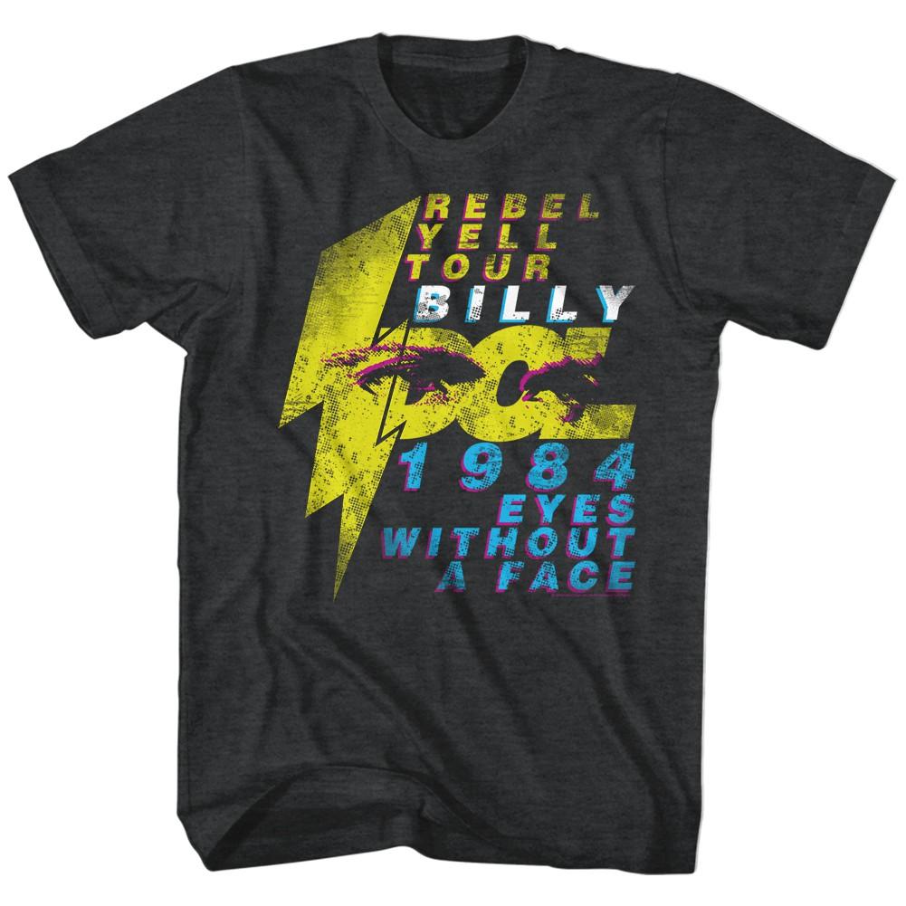 Billy Idol Eyeballs Mens Gray T-Shirt