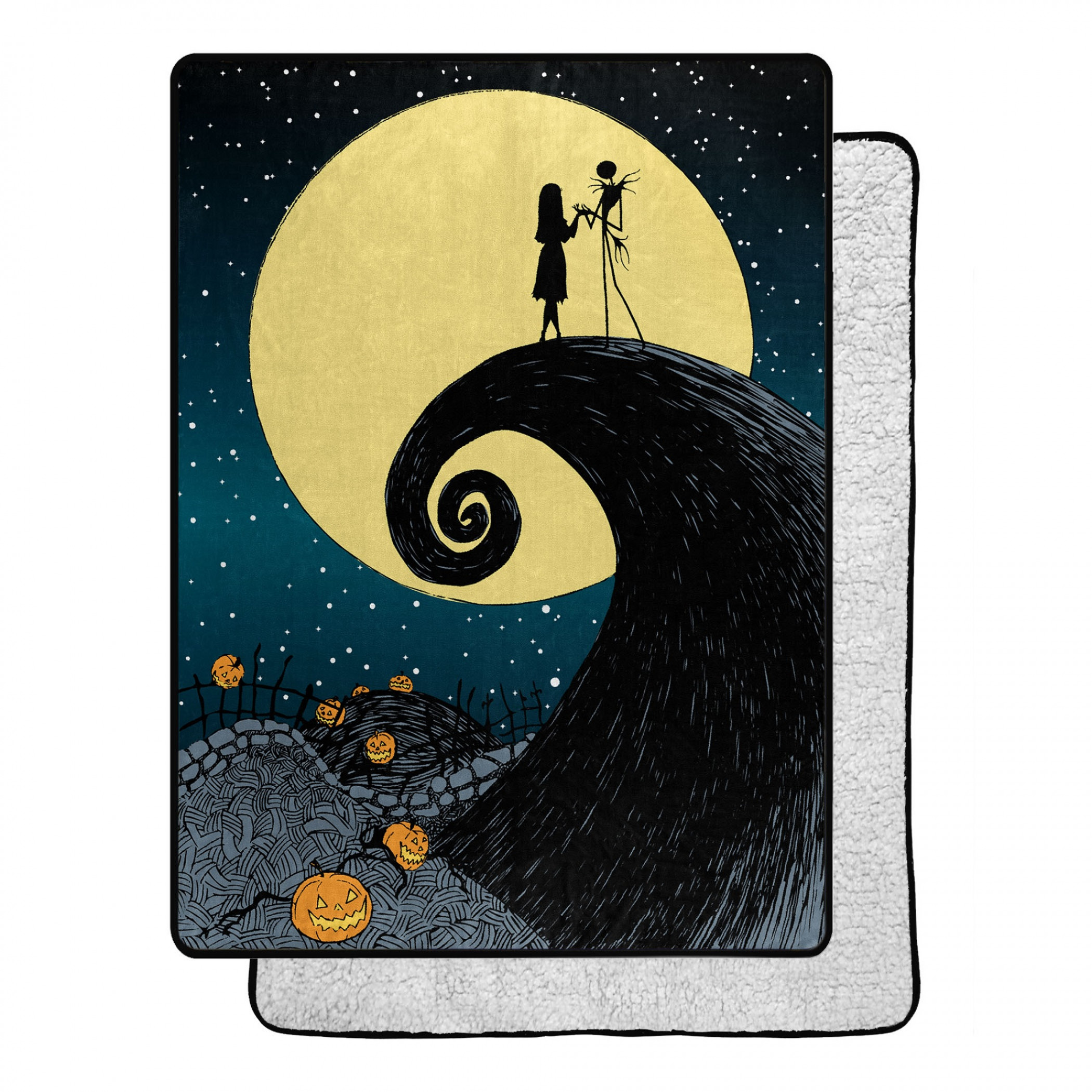 Nightmare Before Christmas Starry Night 60 X 80 Silk Touch Throw