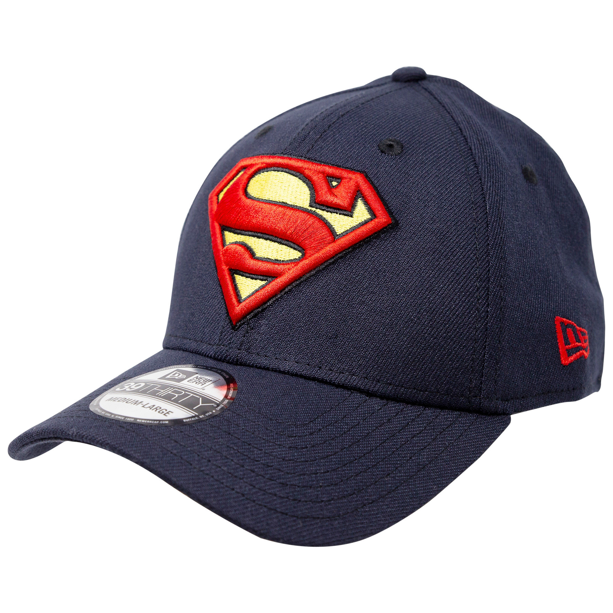 Superman Classic Symbol on Navy New Era 39Thirty Flex Fit Hat