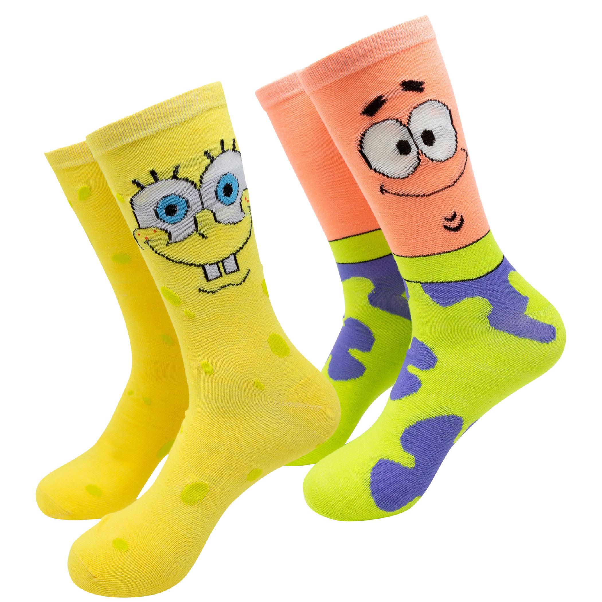 SpongeBob SquarePants 2-Pack Crew Socks