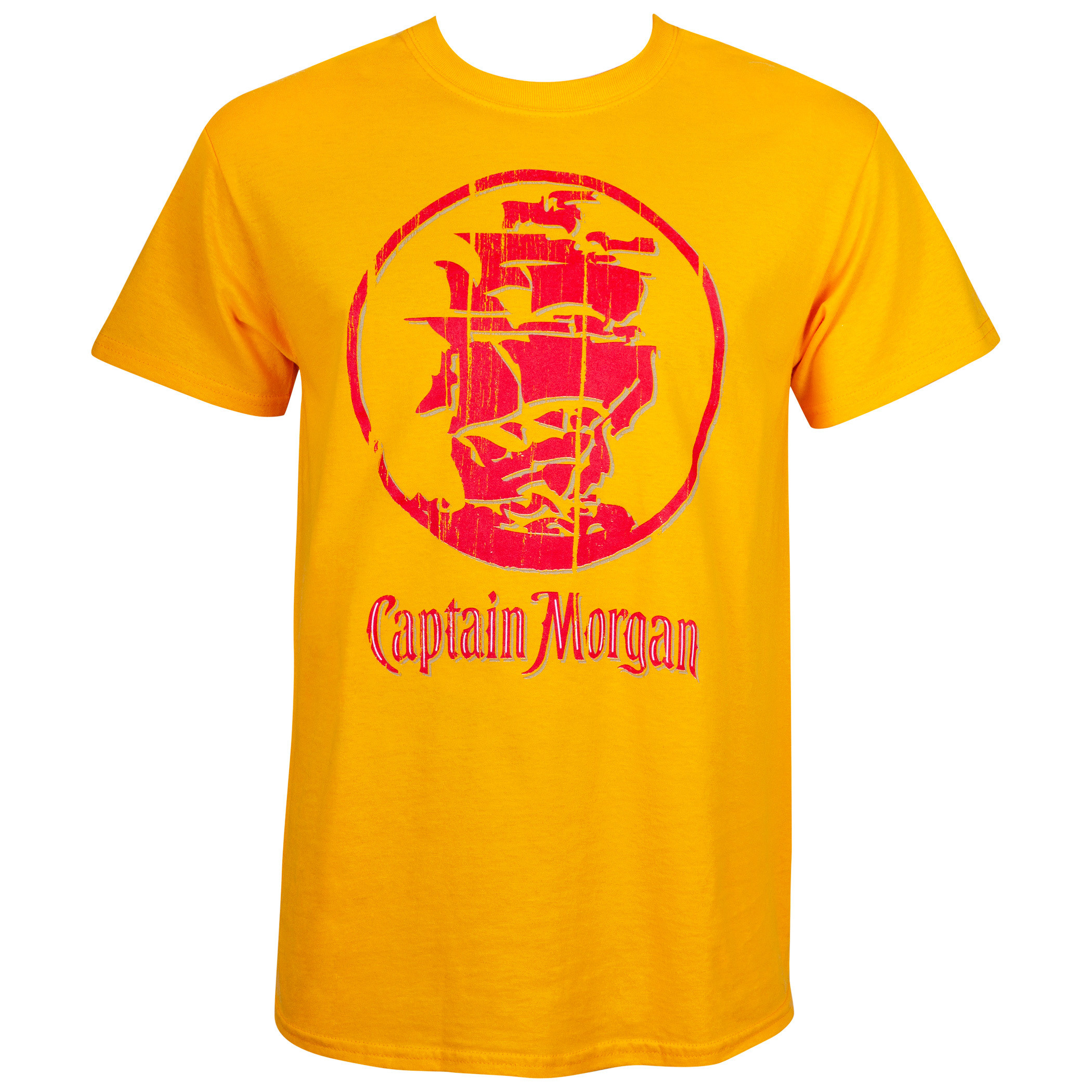 Captain Morgan Gold Ship Logo Tee Shirt