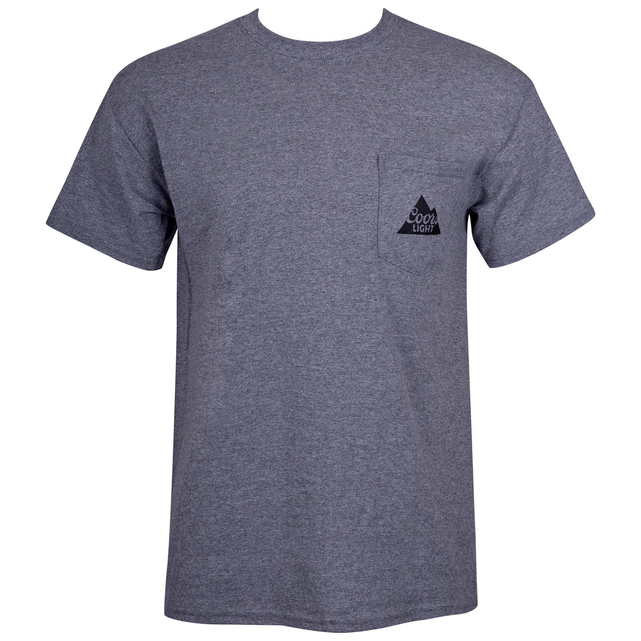 Coors Light Grey Pocket Tee Shirt