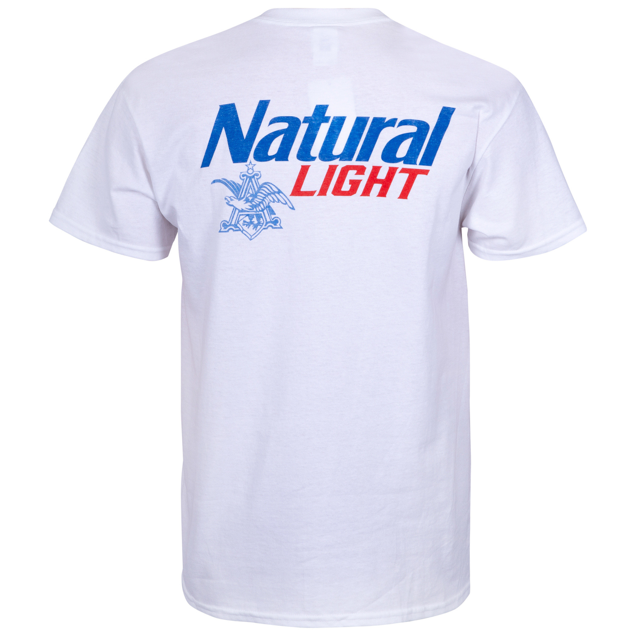 Natural Light White Pocket Tee Shirt