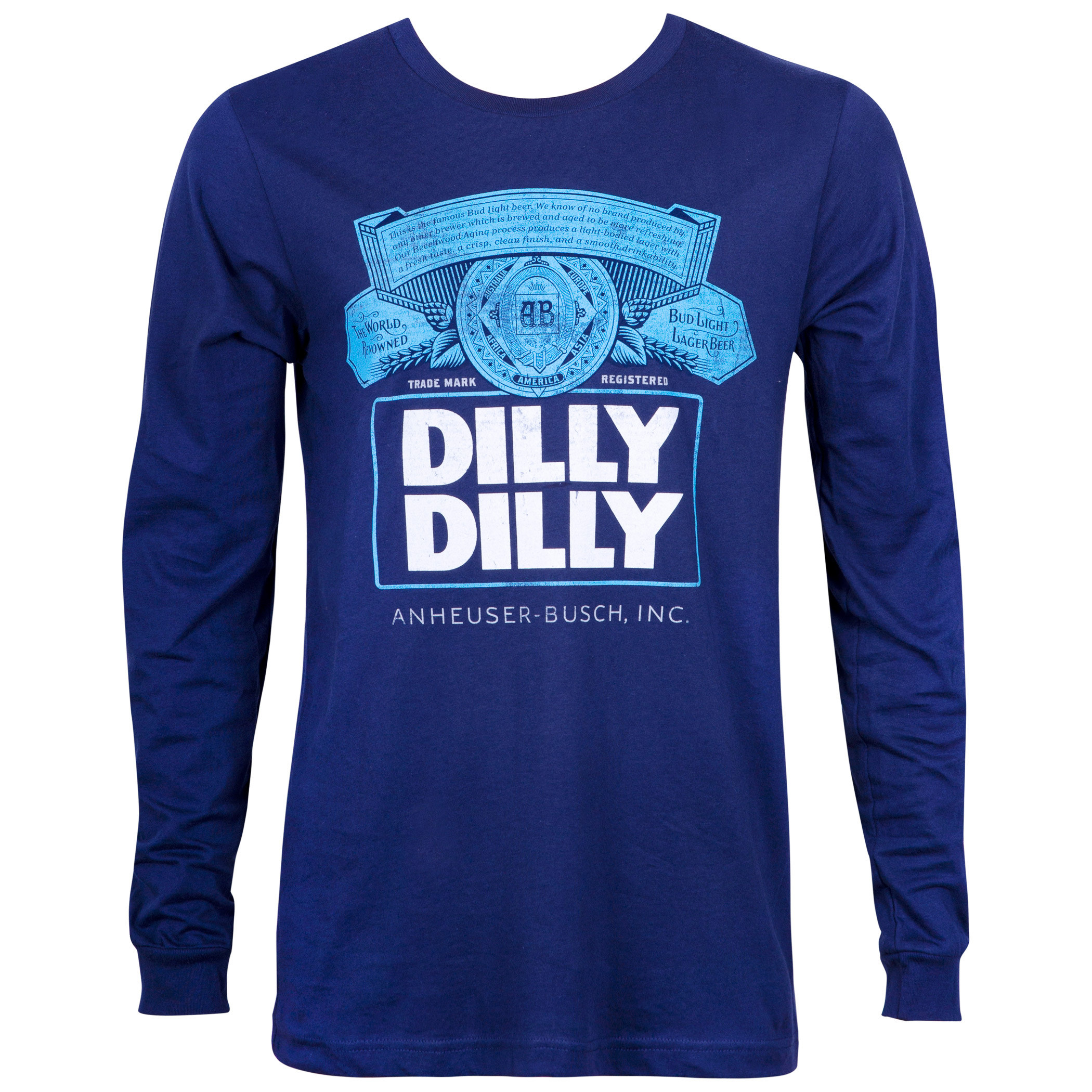 Bud Light Dilly Dilly Long Sleeve Navy Blue Shirt