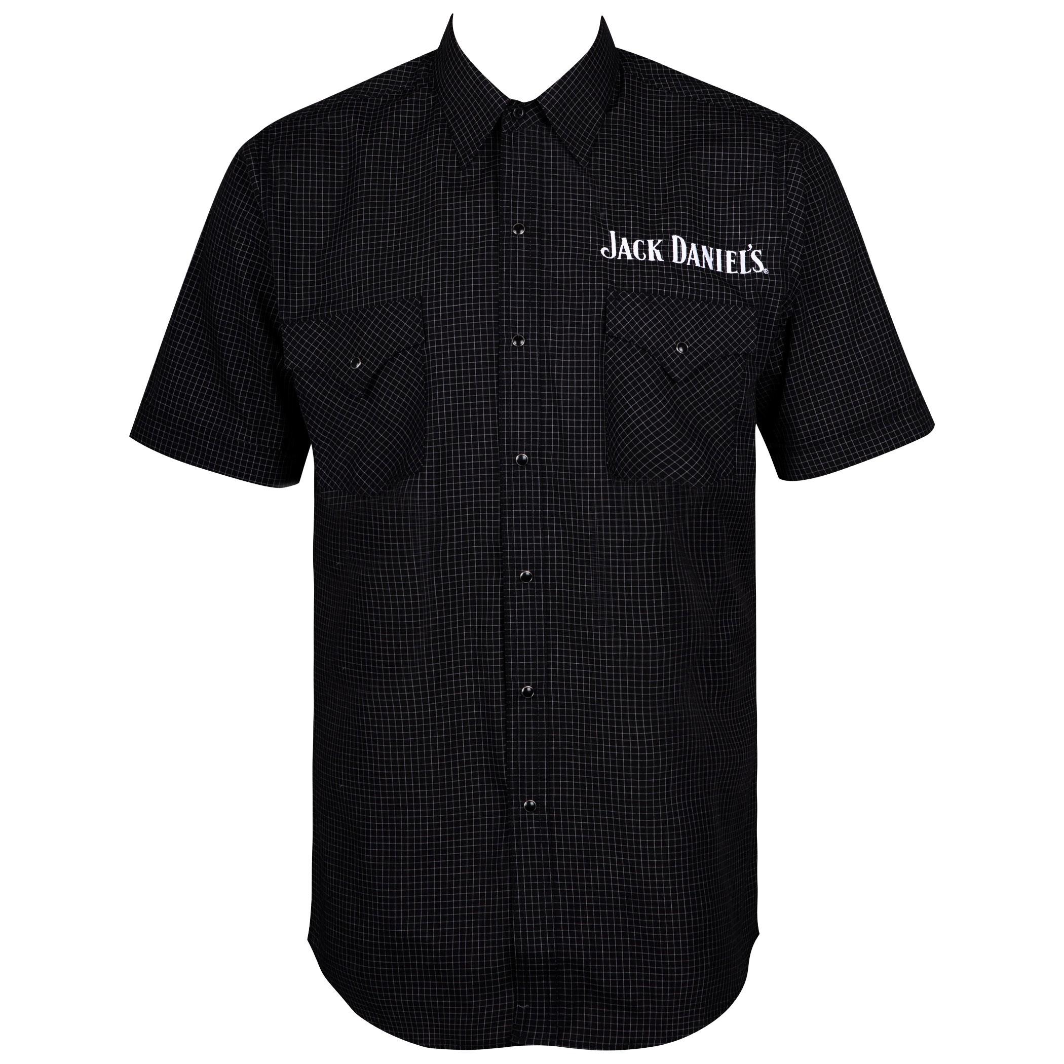 Jack Daniels Mini Checkered Short Sleeve Button Up Shirt