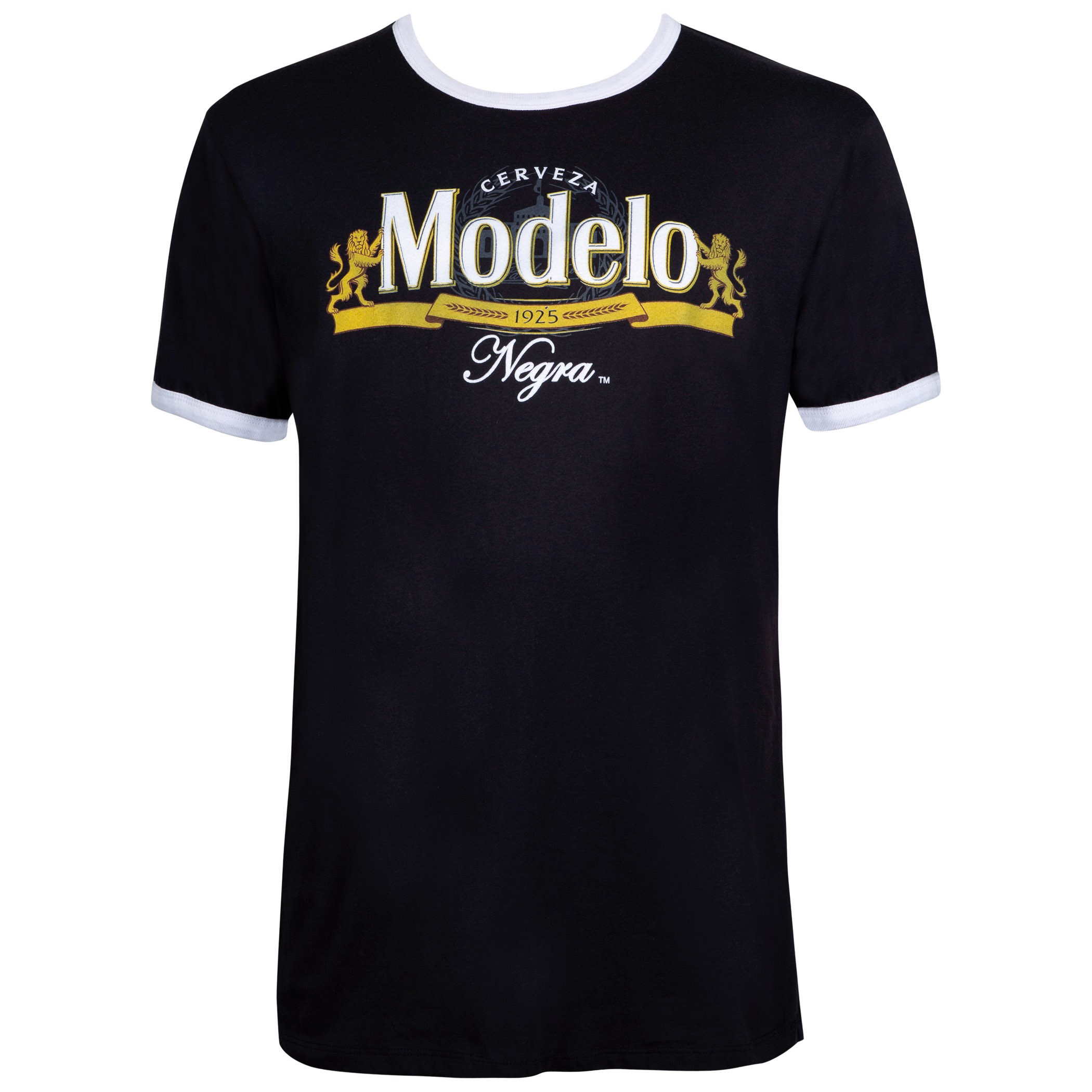 Modelo Ringer Black Tee Shirt