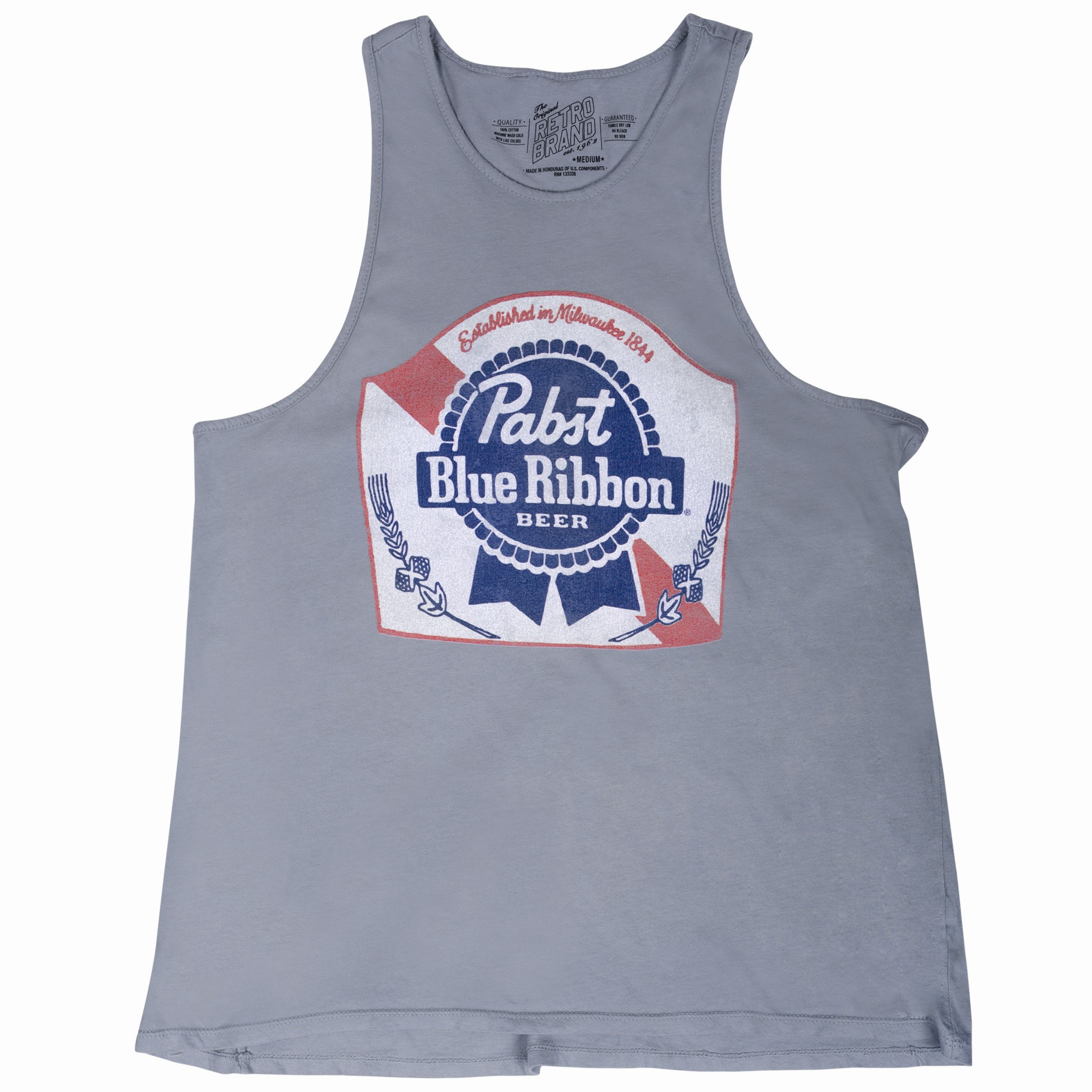 Pabst Blue Ribbon Grey Ladies Tank Top