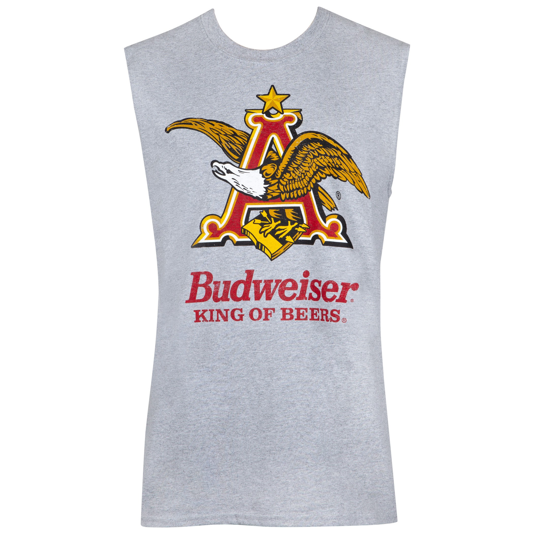 Budweiser Anheuser Logo Sleeveless Grey Tank