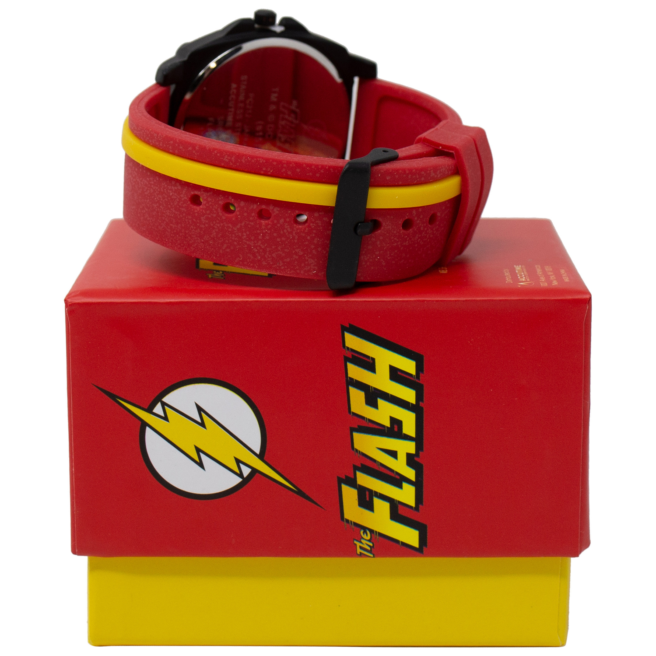 Flash Symbol Red and Yellow Watch