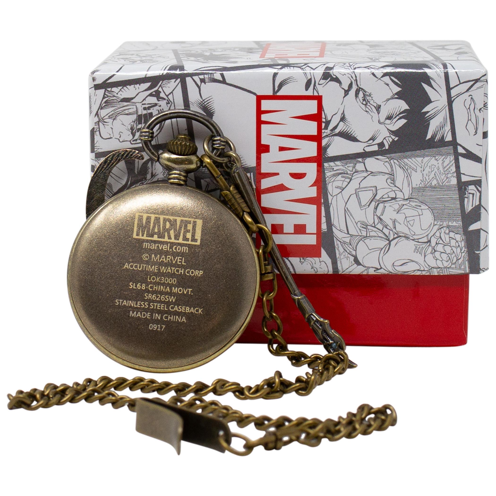Loki God of Mischief Golden Pocketwatch