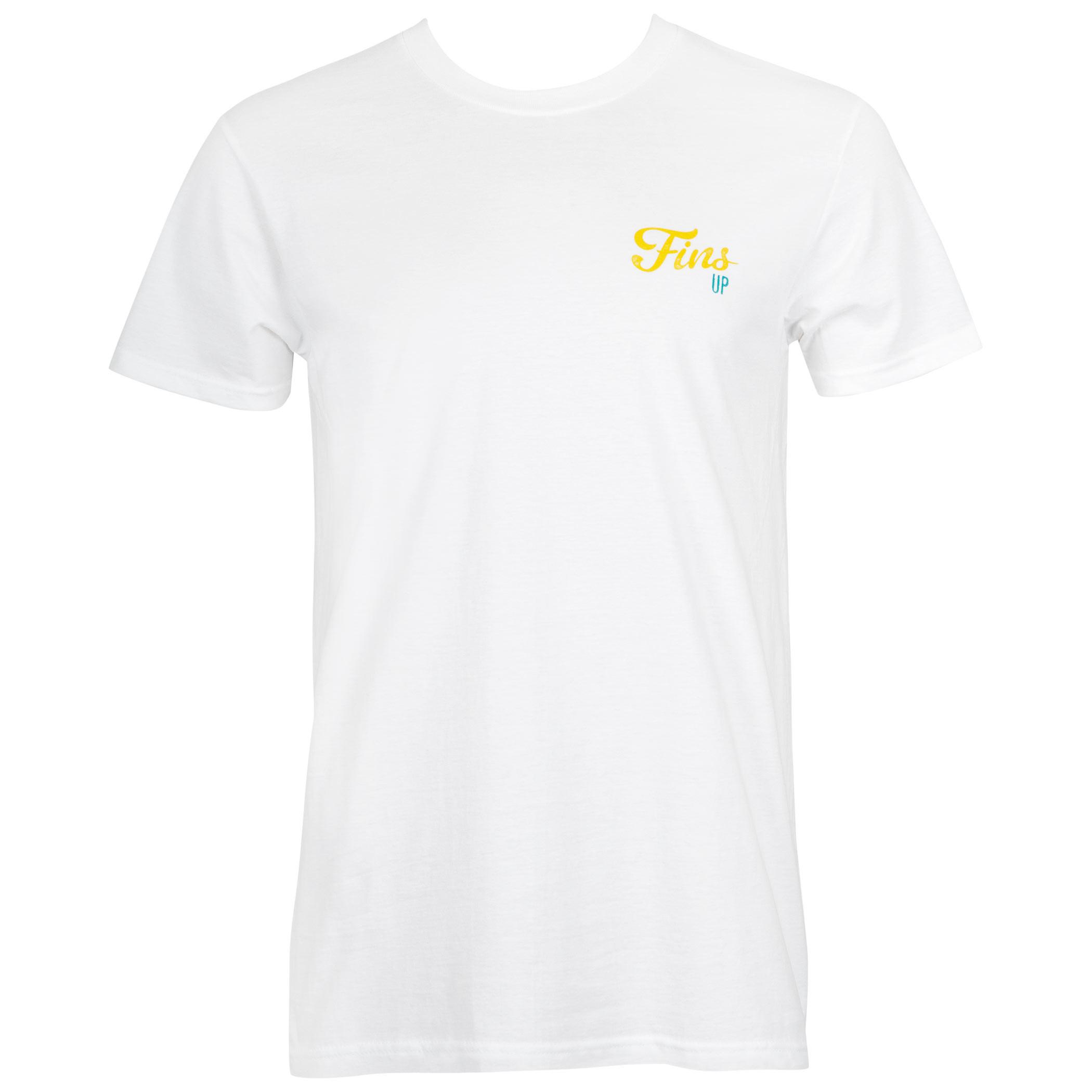 Landshark Fins Up White Tee Shirt