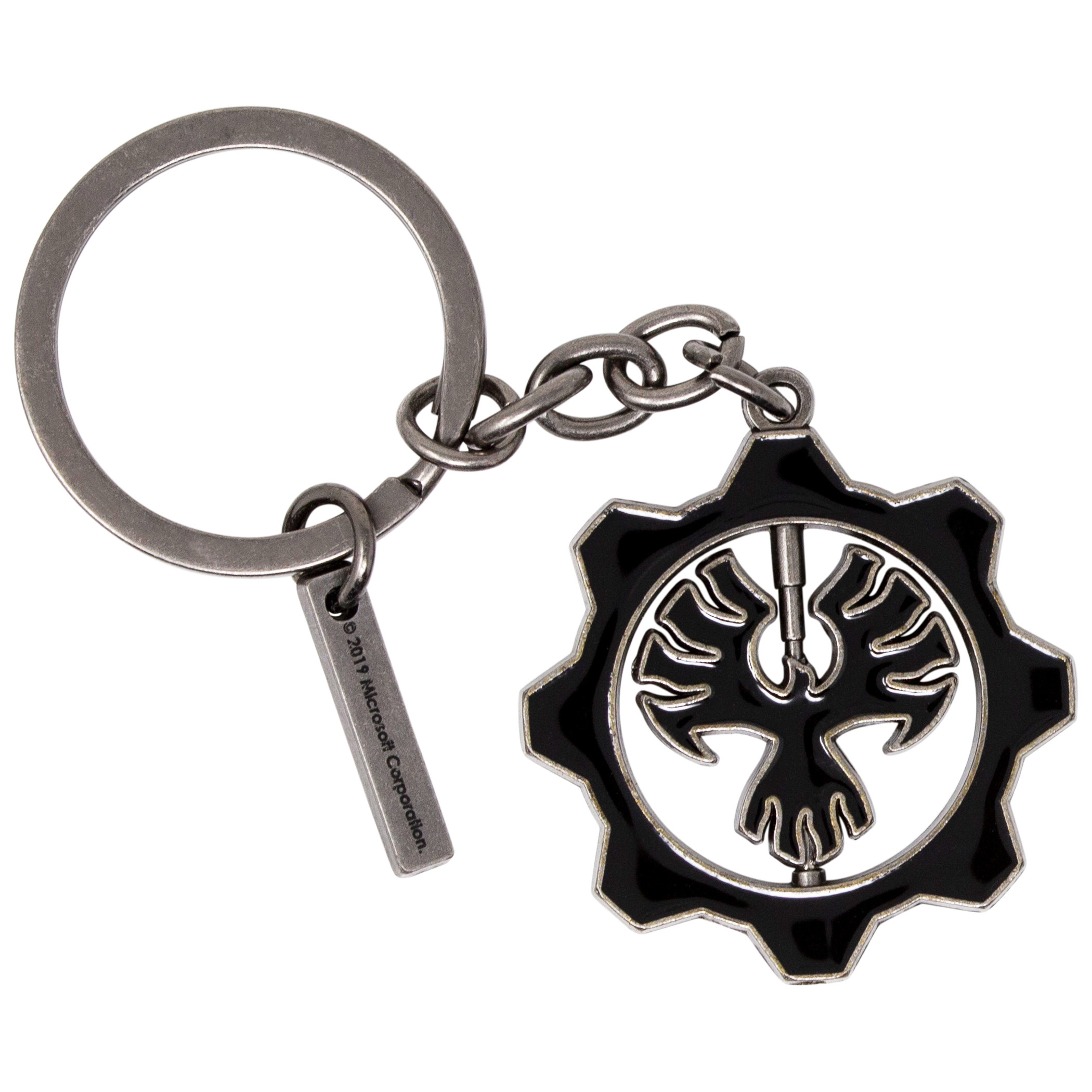 Gears of War Rotating Logo Keychain