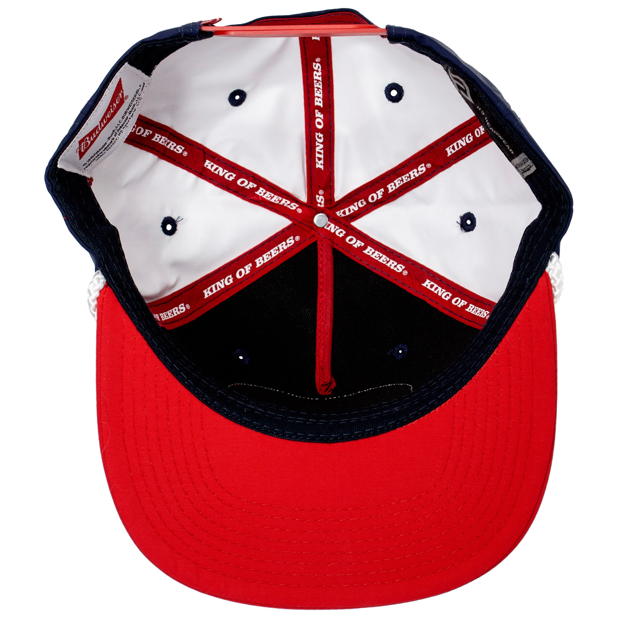 Budweiser Red and Blue Vintage Patch Snapback