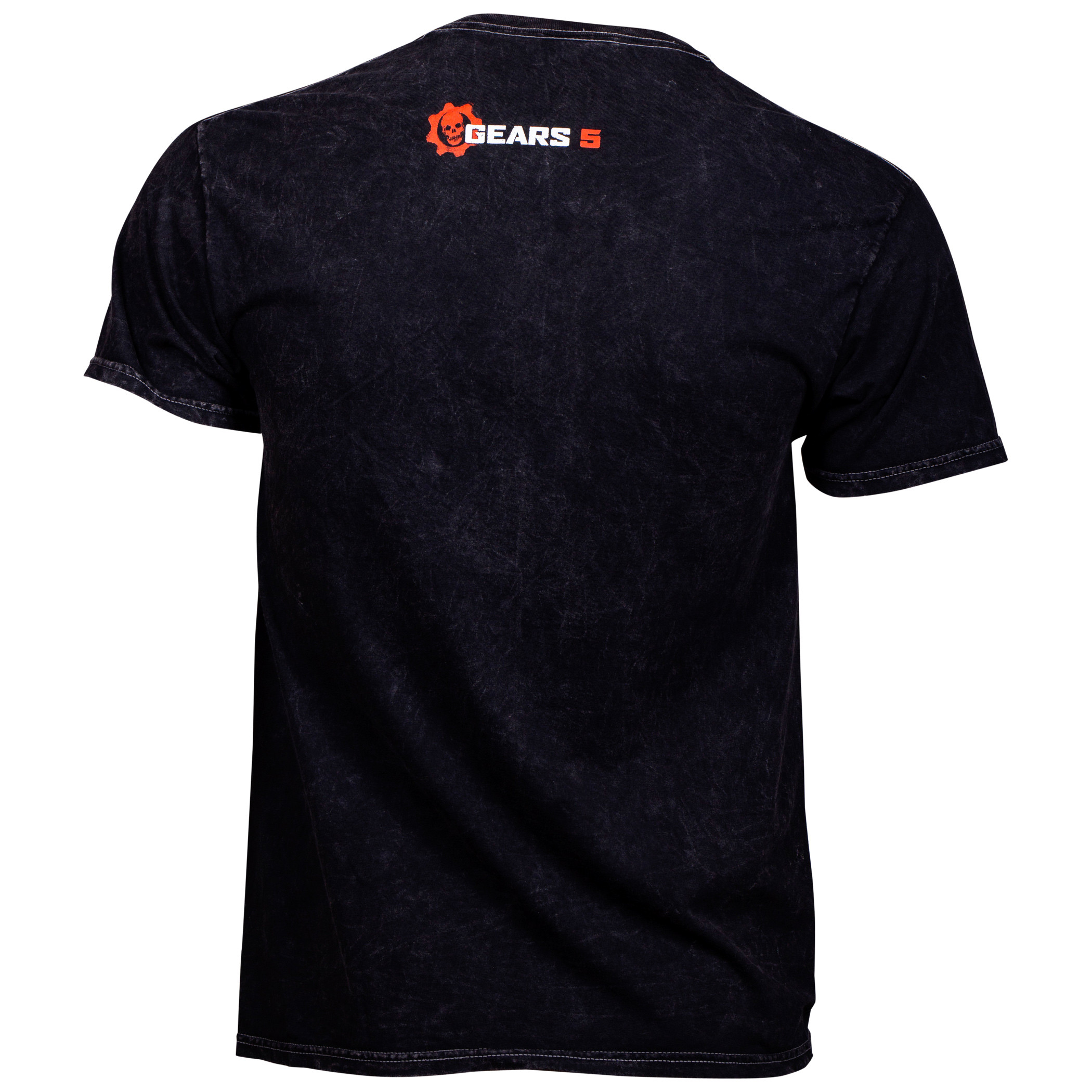 Gears of War Logo Distressed Mineral Washed T-Shirt