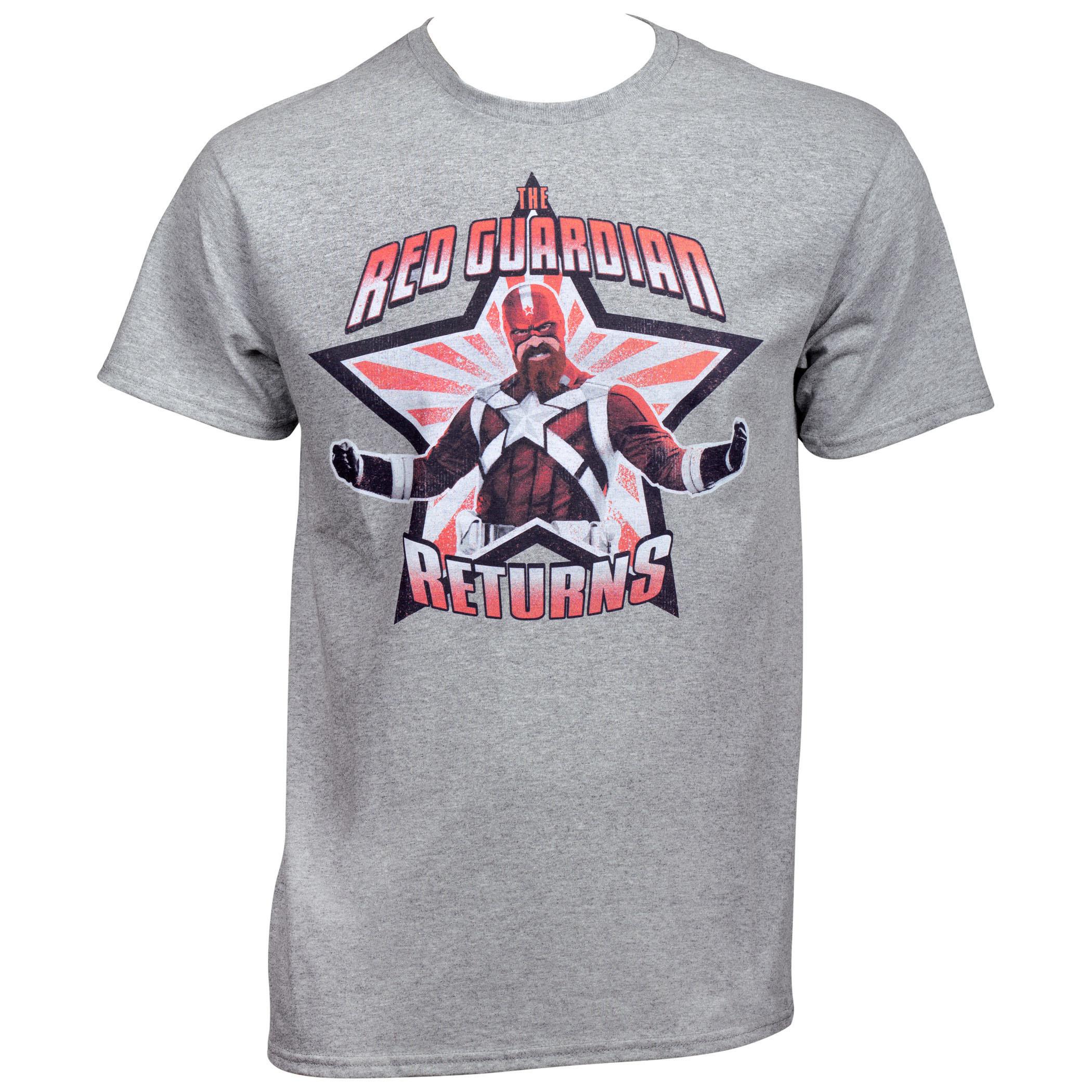 The Red Guardian Returns Black Widow Movie T-Shirt