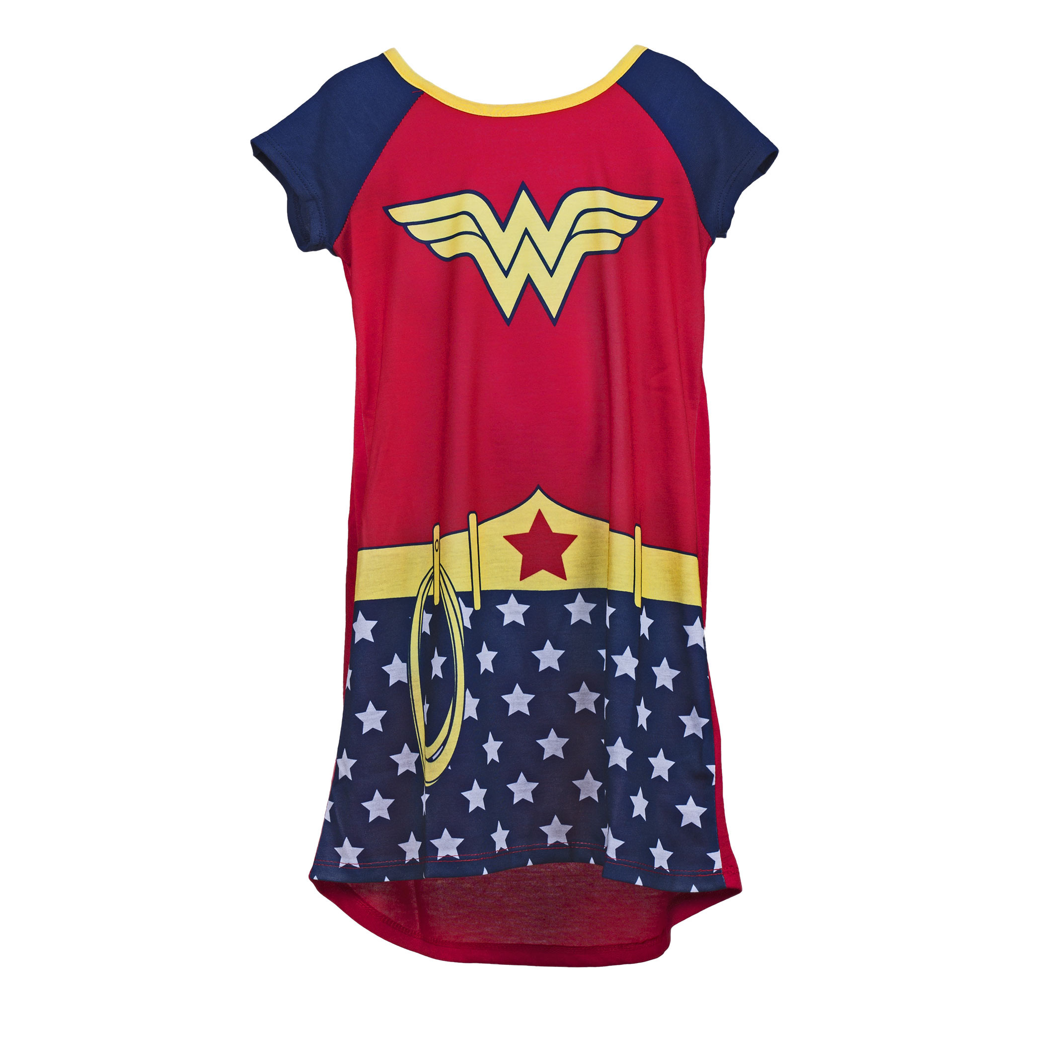 Wonder Woman Costume Girls Youth Nightgown with Cape