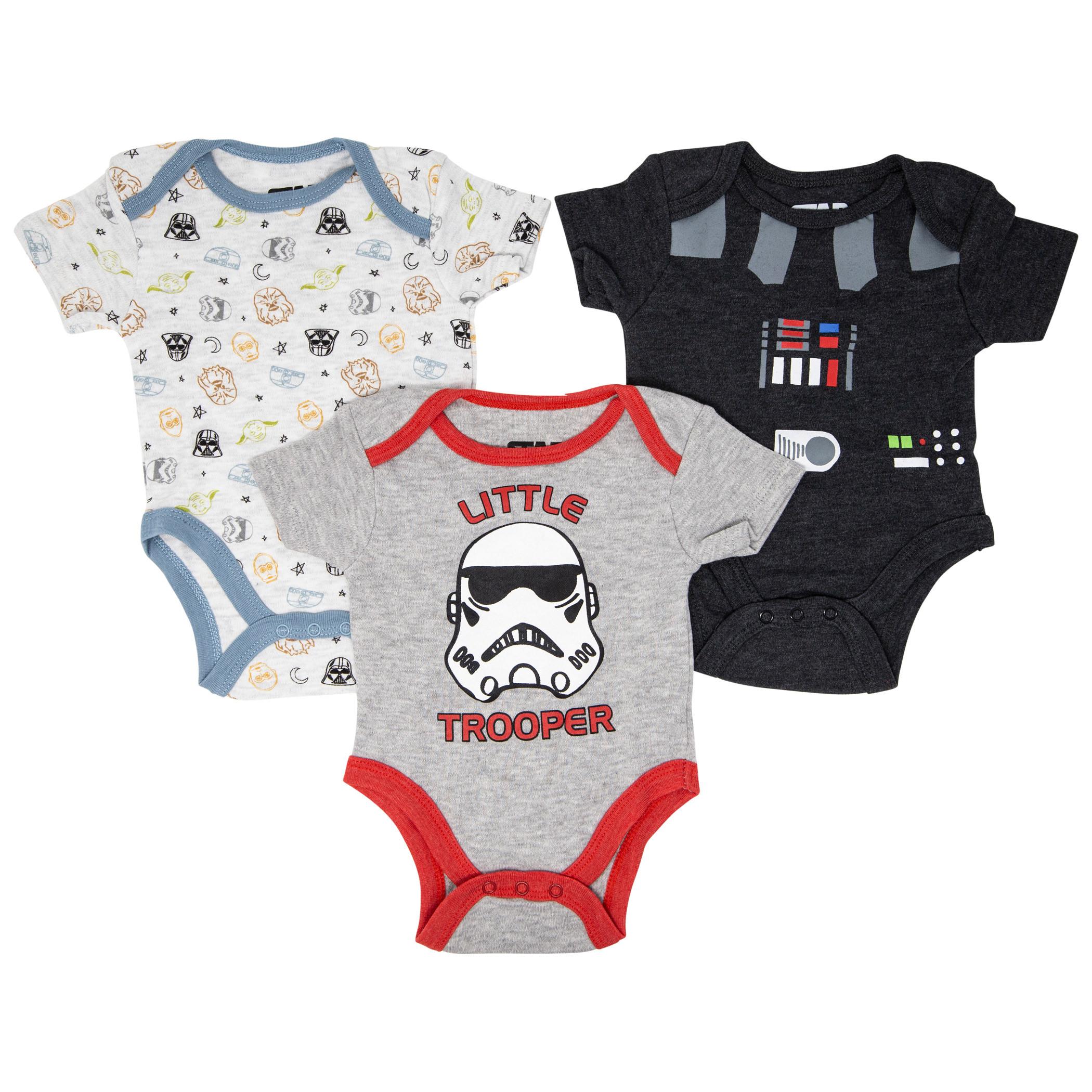 Star Wars 3-Pack Infant Bodysuit Set