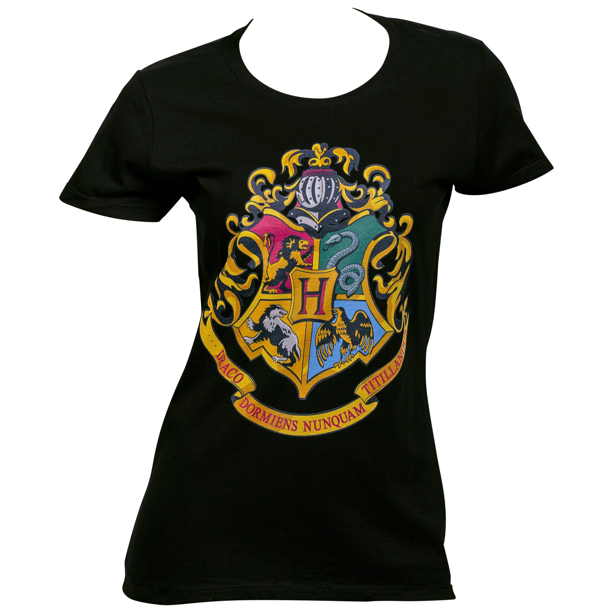 Harry Potter Hogwarts Crest Juniors T-Shirt