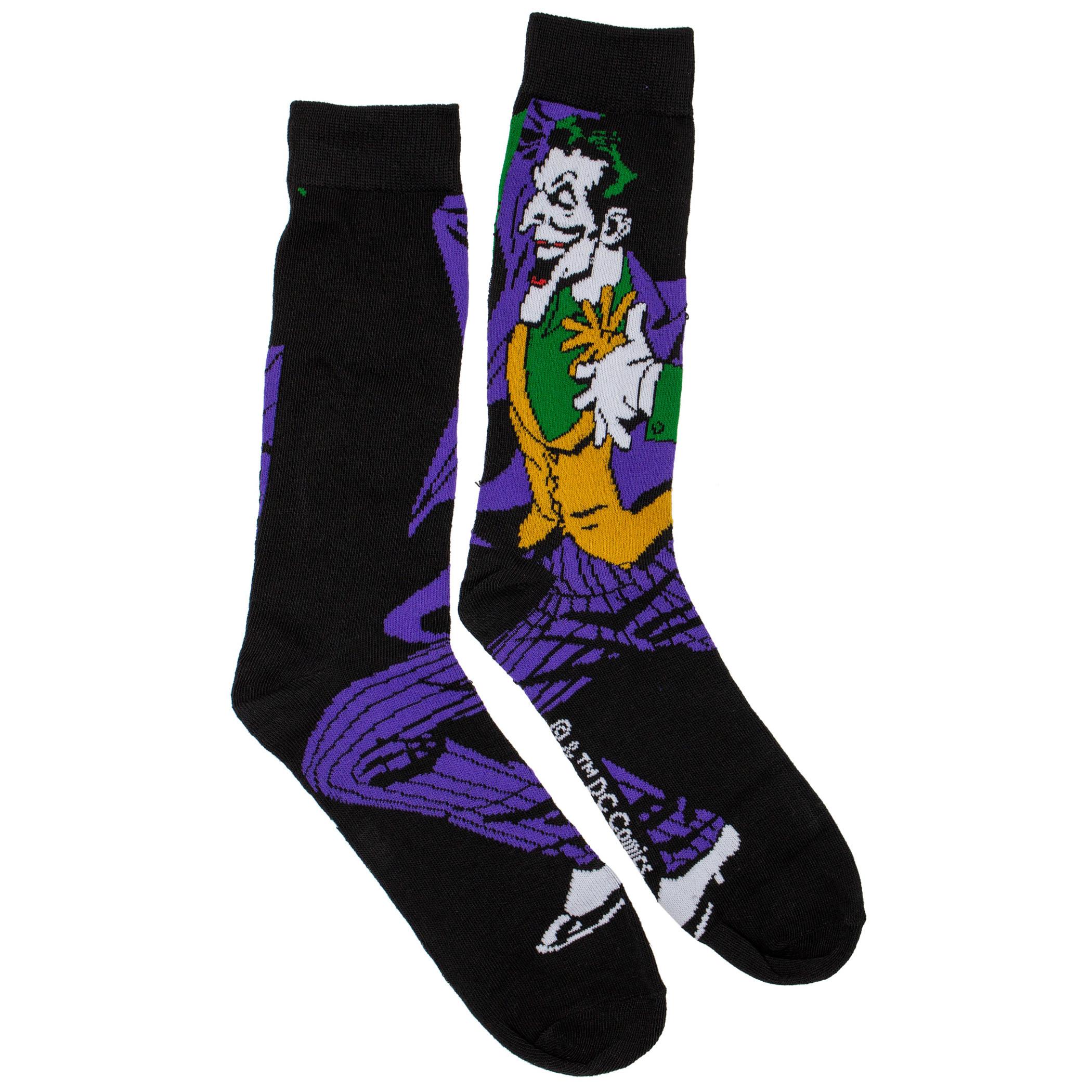 The Joker Action Pose Crew Socks