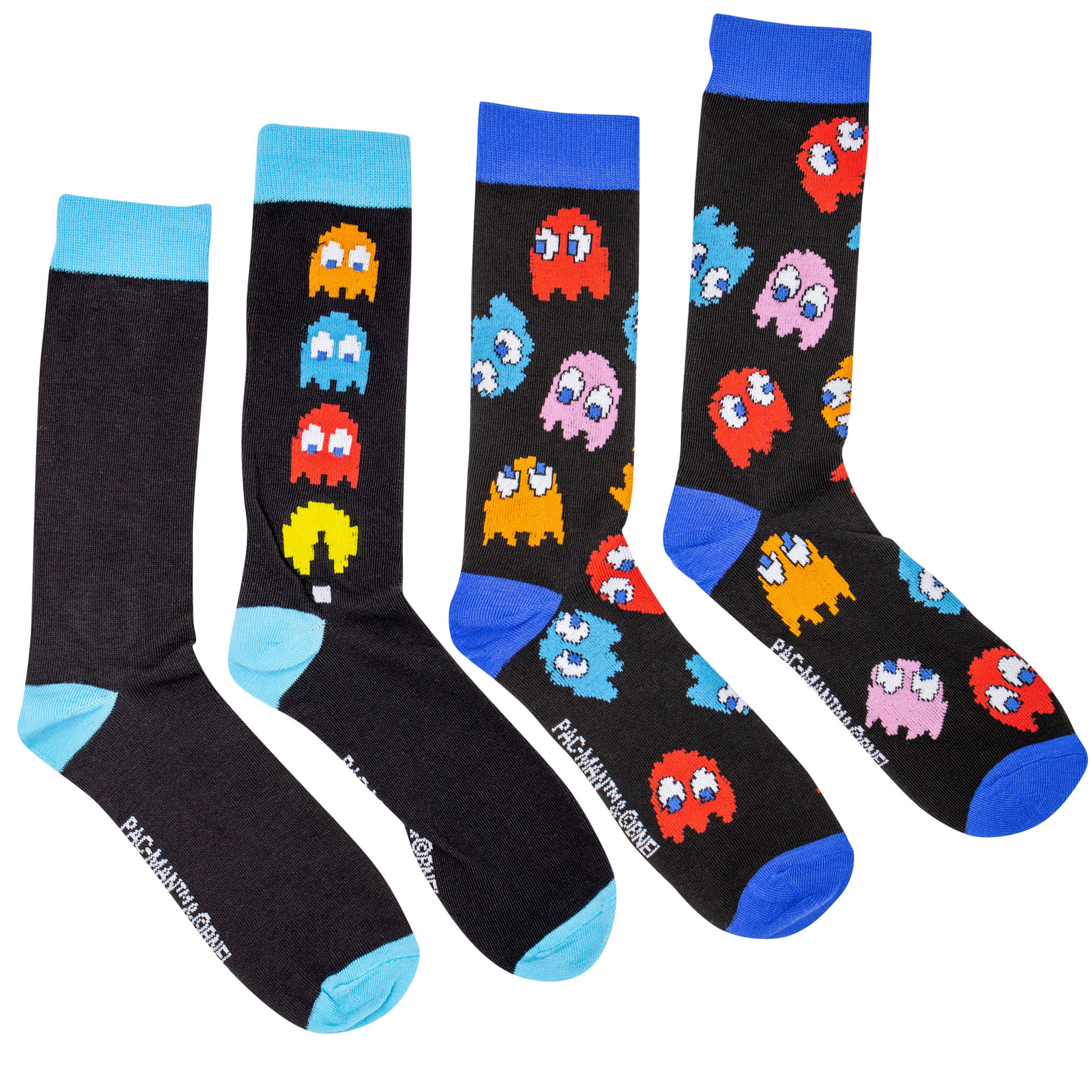 Pac-Man Arcade Chase and All-Over Ghosts 2-Pack Crew Socks