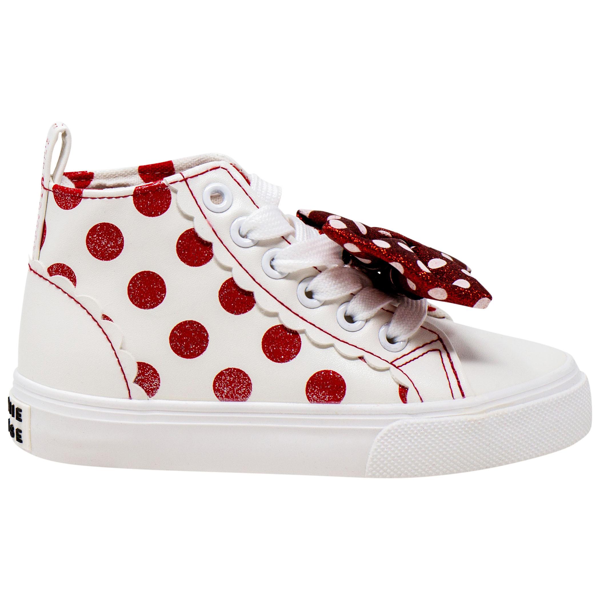 Disney Minnie Mouse Polka Dots and Bows Youth Girls Sneakers