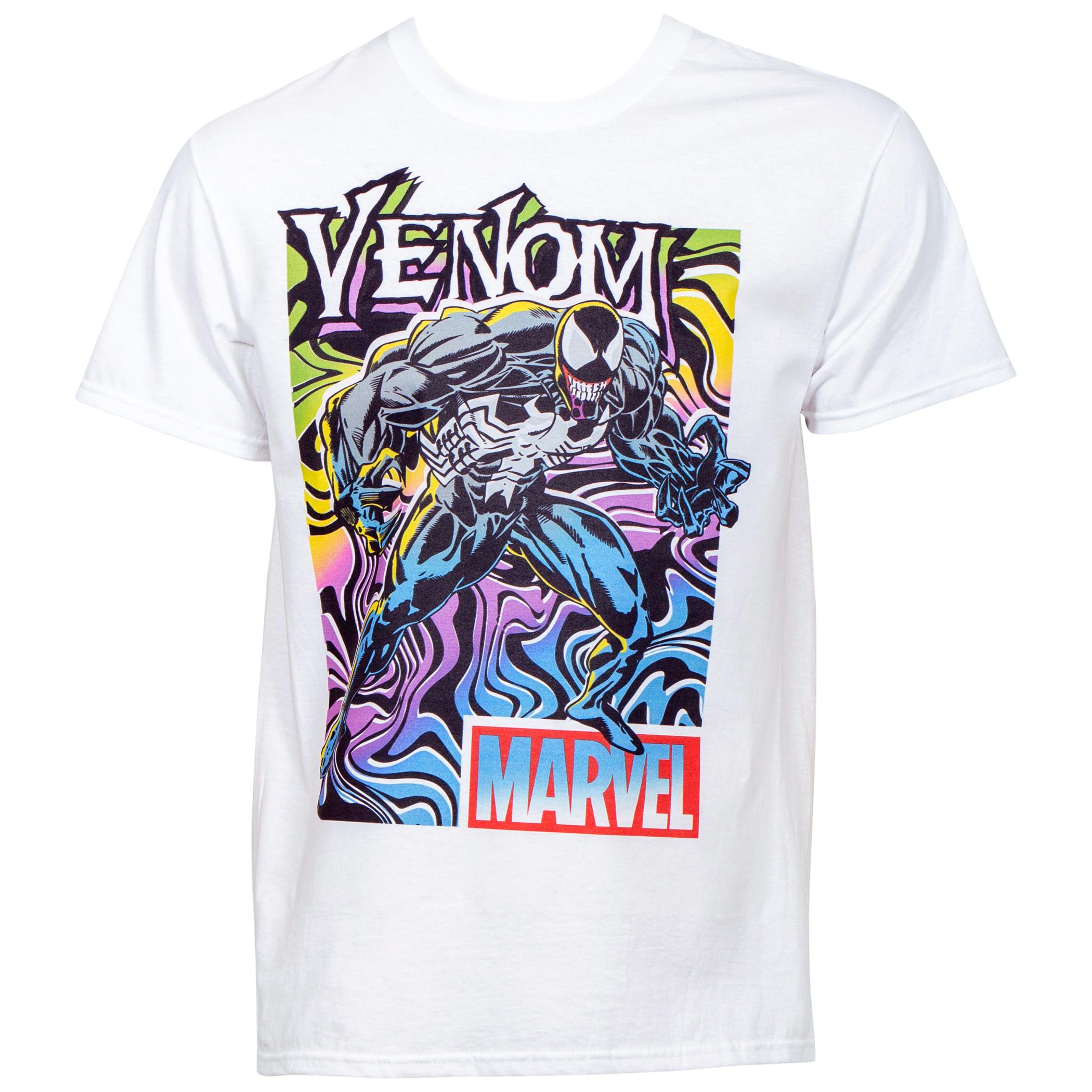 Marvel's Venom Neon Color Stance T-Shirt