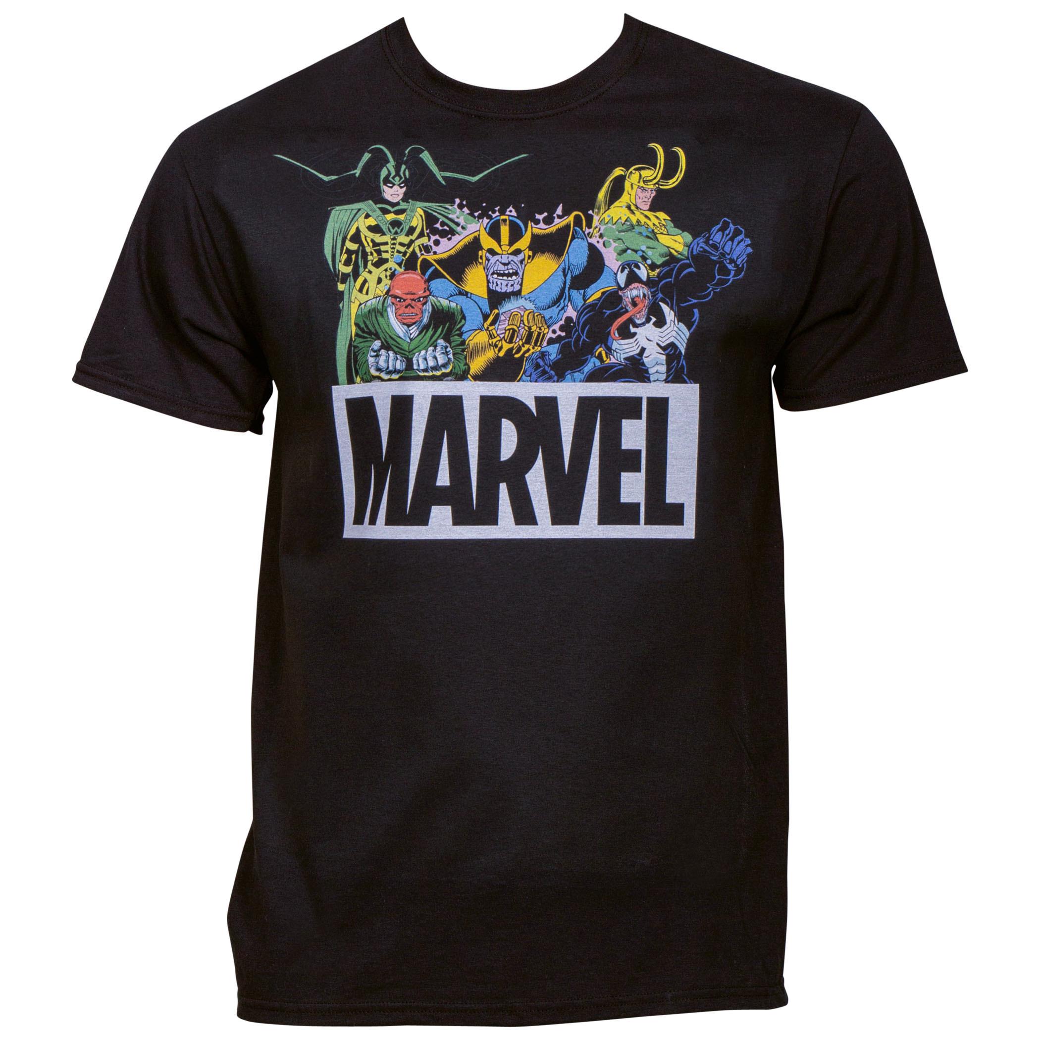 Marvel Comics Brand Villains Lineup T-Shirt