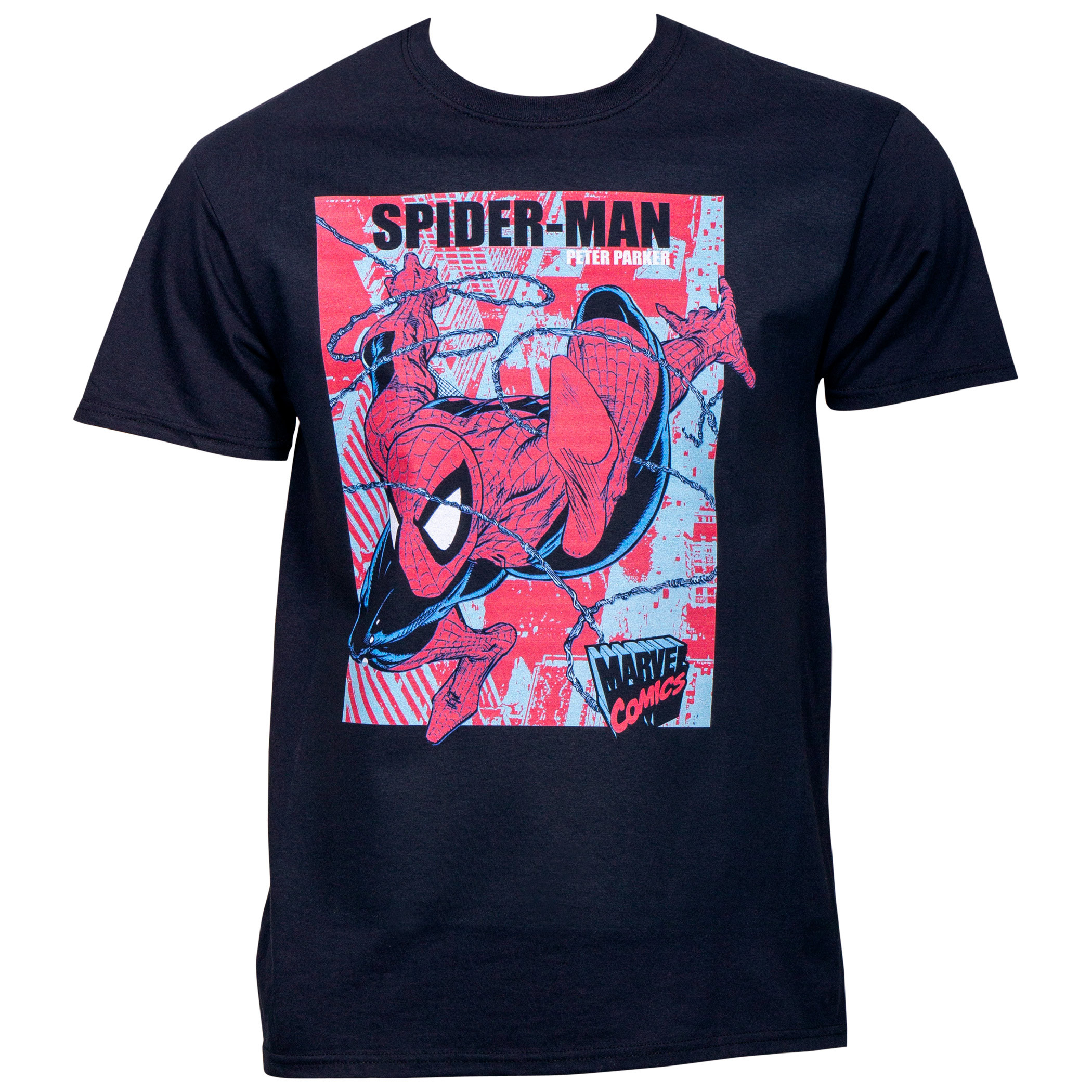 Marvel Comics Spider-Man Peter Parker Swinging Vintage T-Shirt