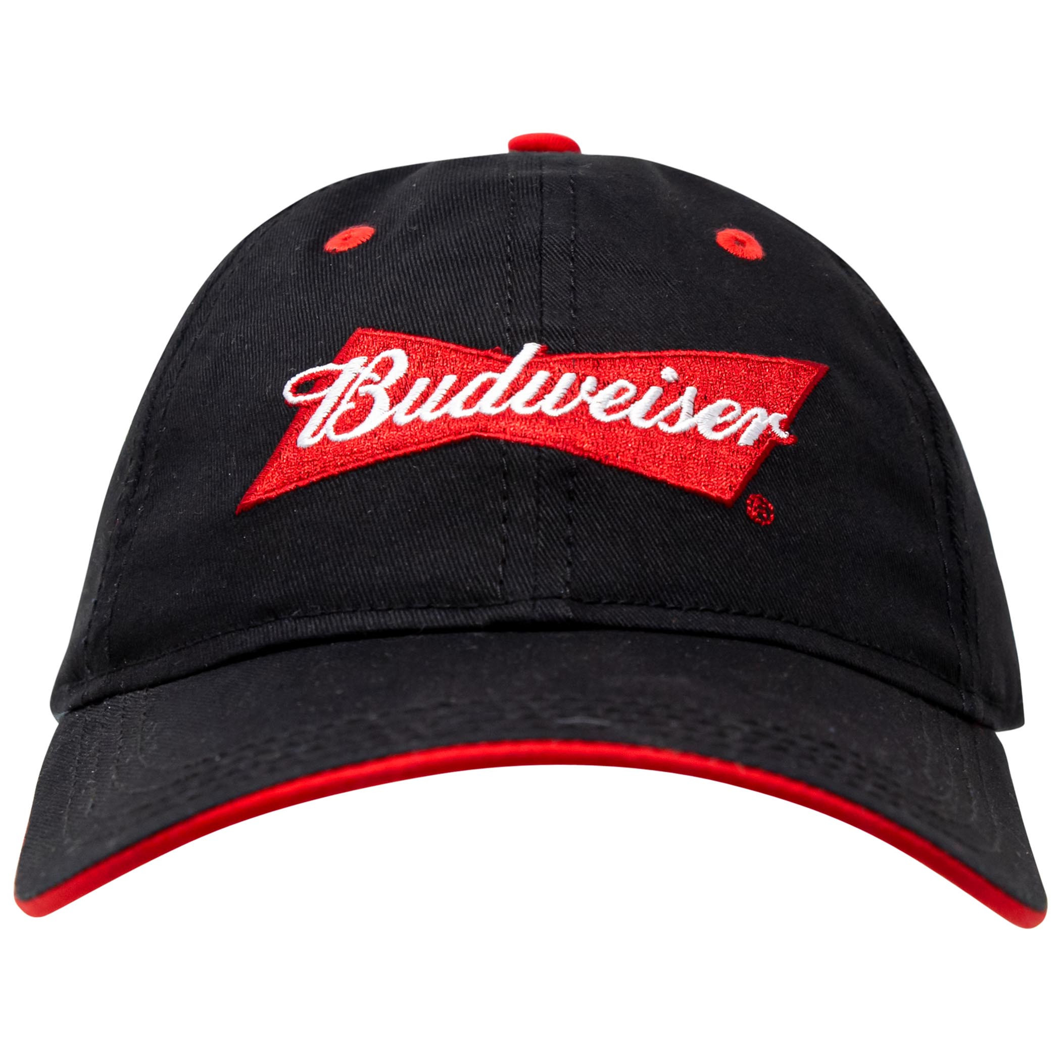 Budweiser Beer Logo Adjustable Black Hat