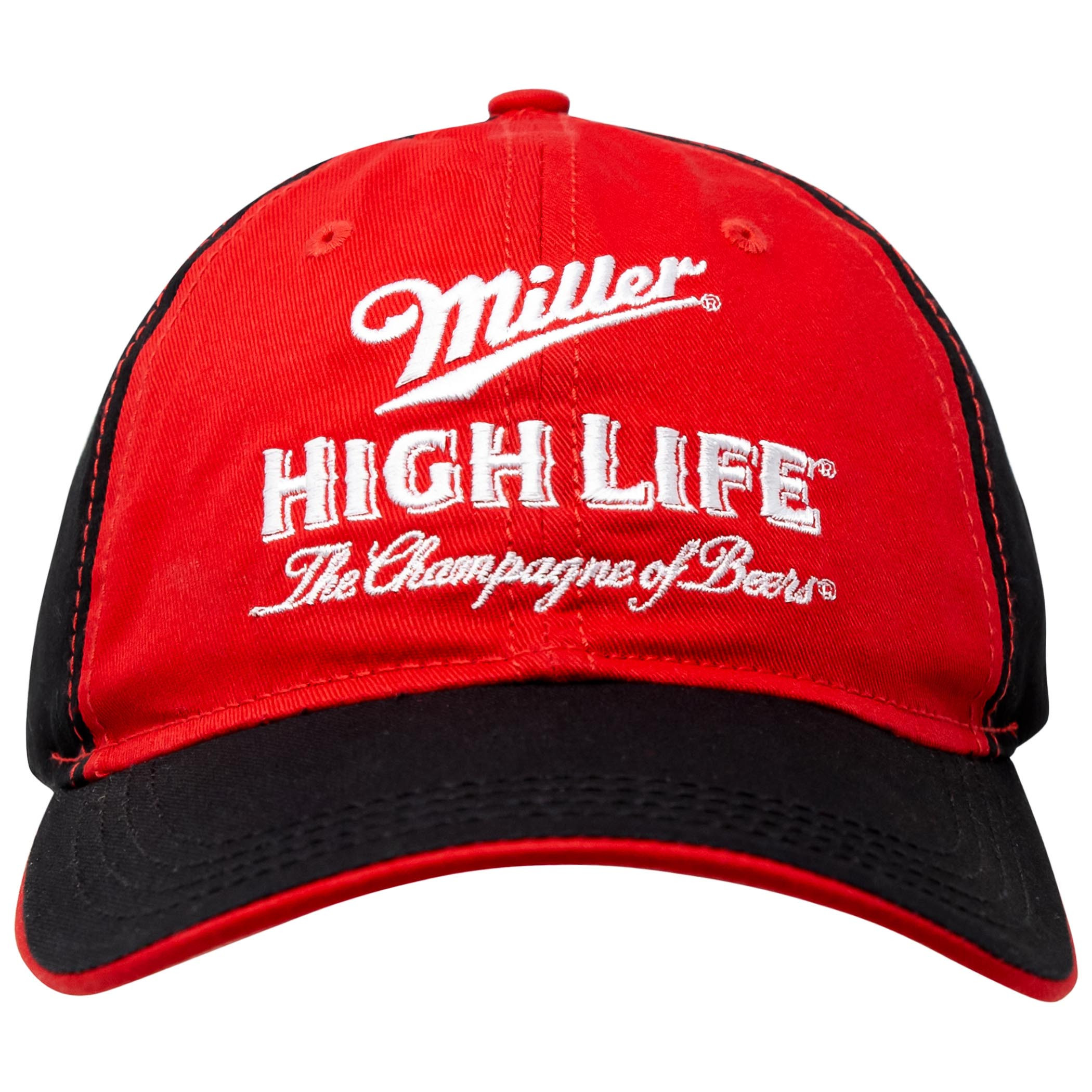 Miller High Life Beer Black And Red Adjustable Hat