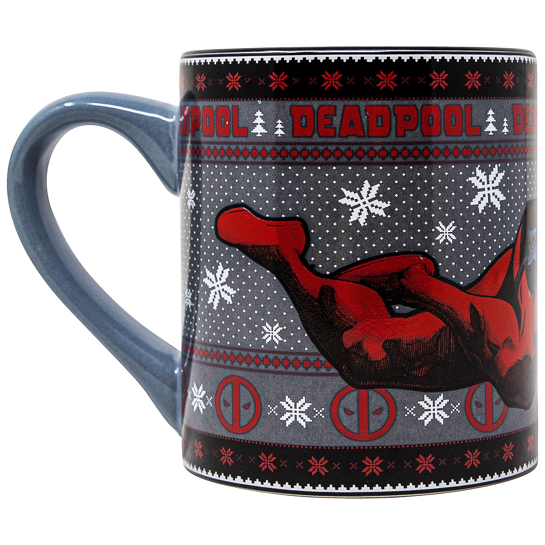 Deadpool Holiday Lounge 14 oz. Mug