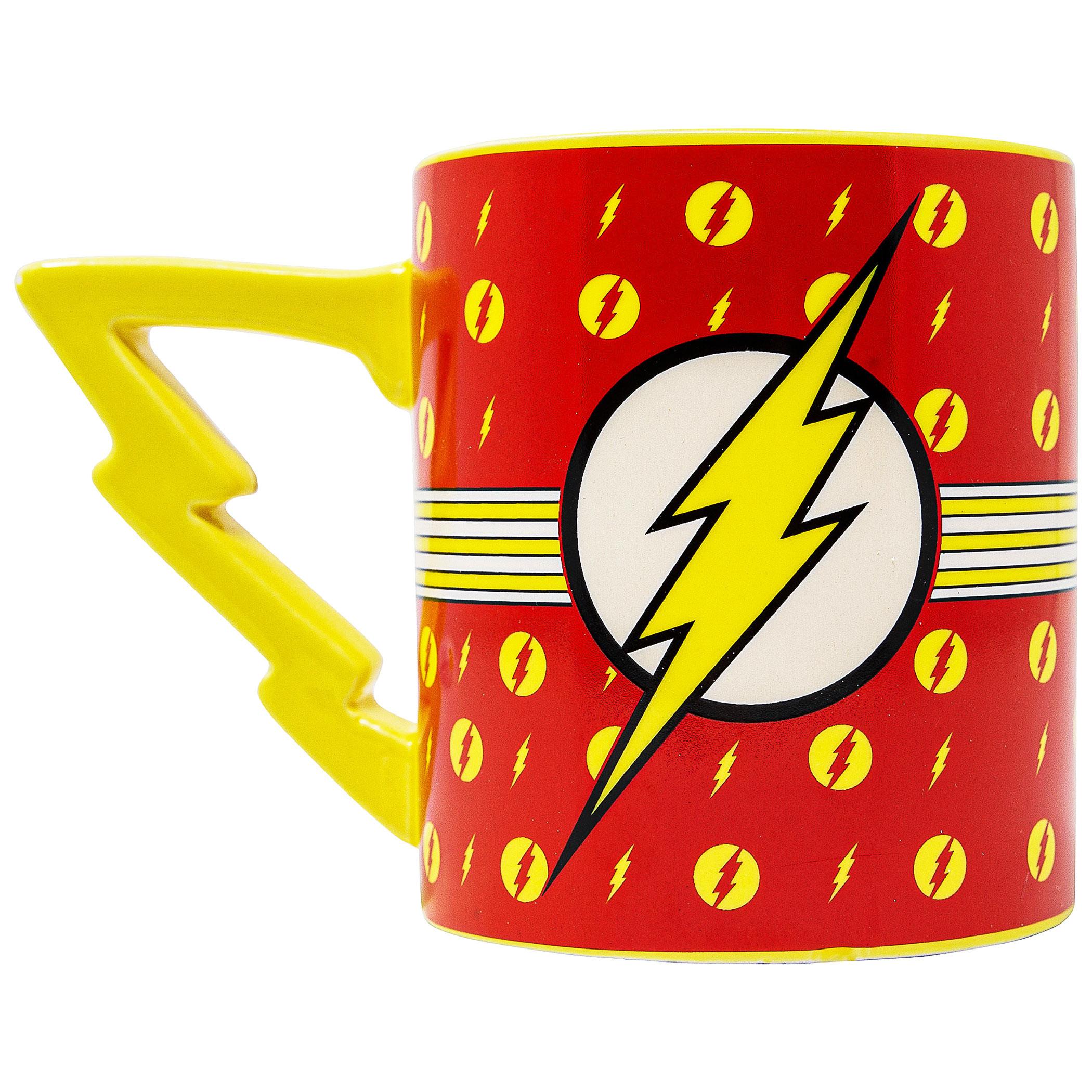 Flash Stripes Logo 20 oz Mug with Lightning Handle