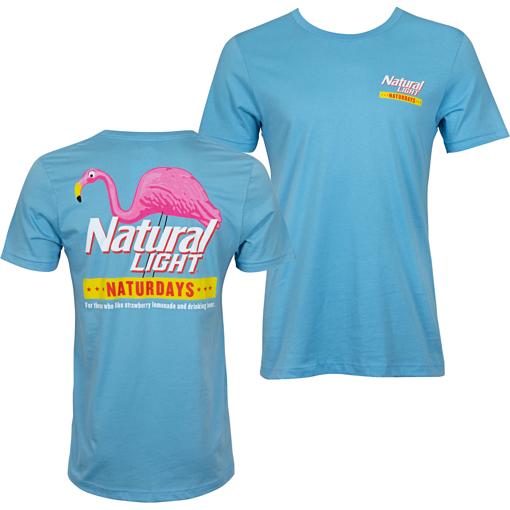 Natty Naturdays Blue Natural Light Men's Tee Shirt