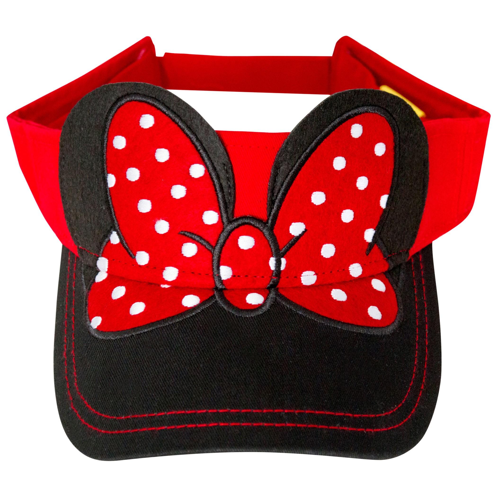 Minnie Mouse Ears and Bow Visor