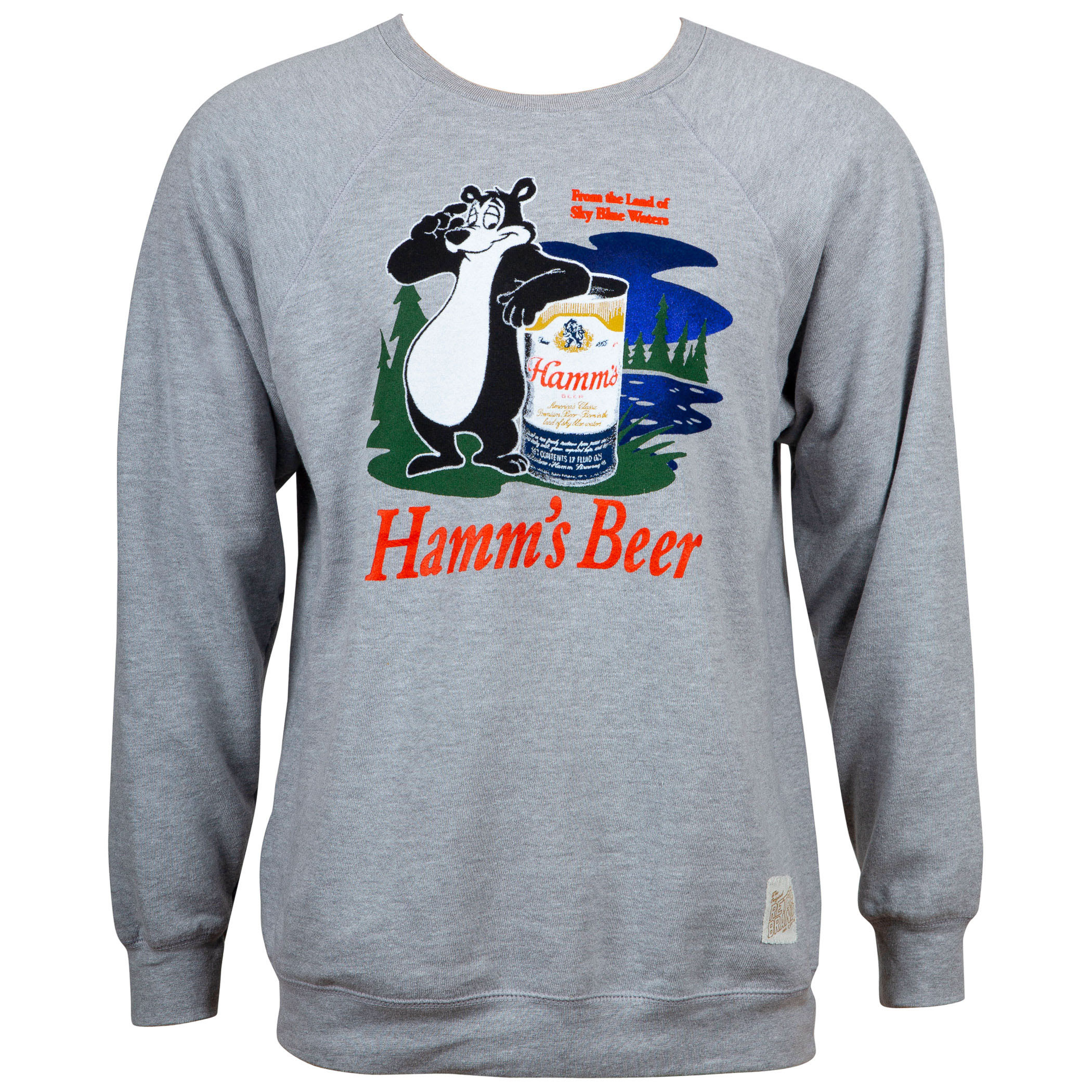 Hamm's Beer Retro Bear Logo Men's Heather Grey Sweatshirt