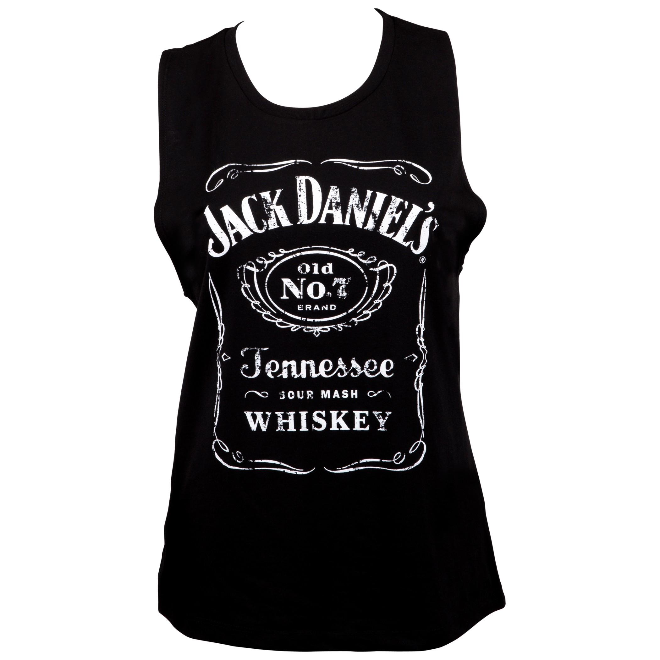 Jack Daniels Classic Logo Women's Muscle Tank Top